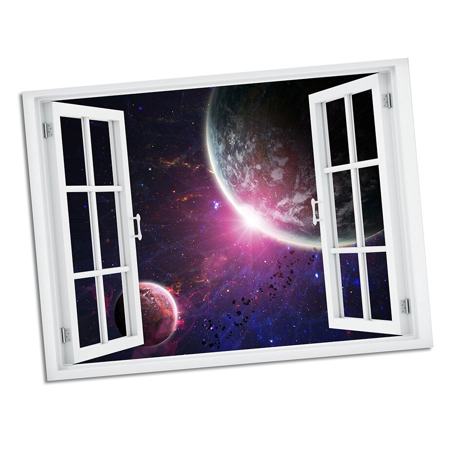 Picture it on Canvas Space Encounter Paradise Window Art