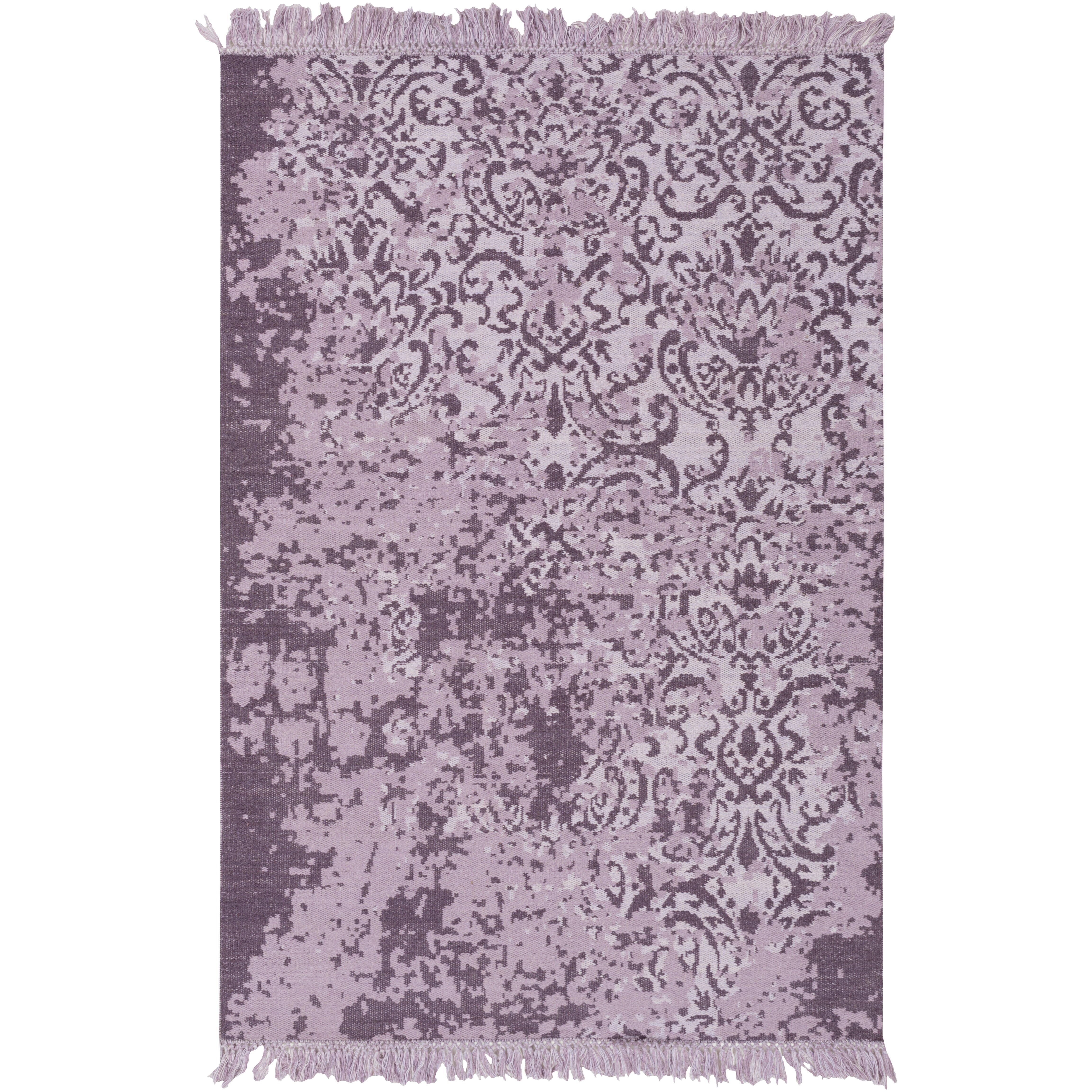 Charming Bungalow Rose Willemstad Hand Woven Purple Area Rug