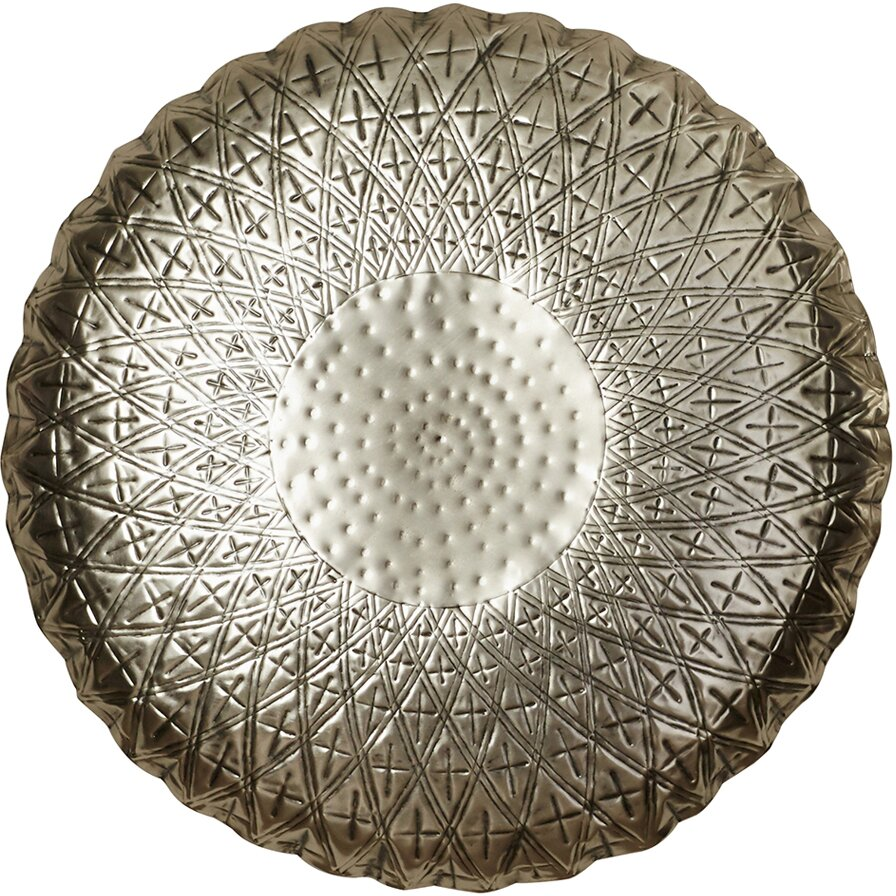 Bungalow Roseu0026trade; Classy Metal Round Abstract Wall ...