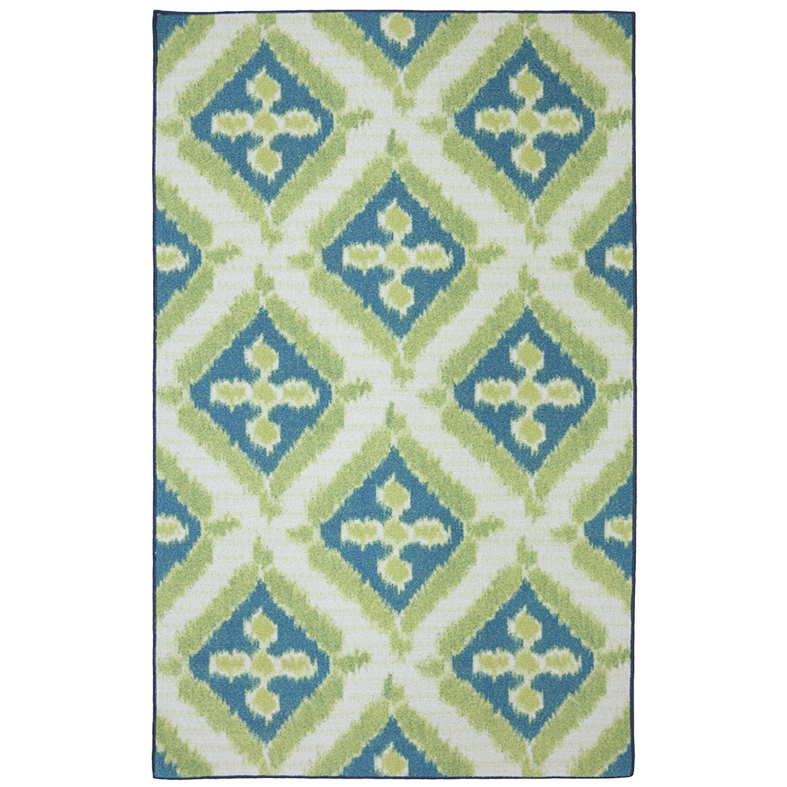 green and white area rugs