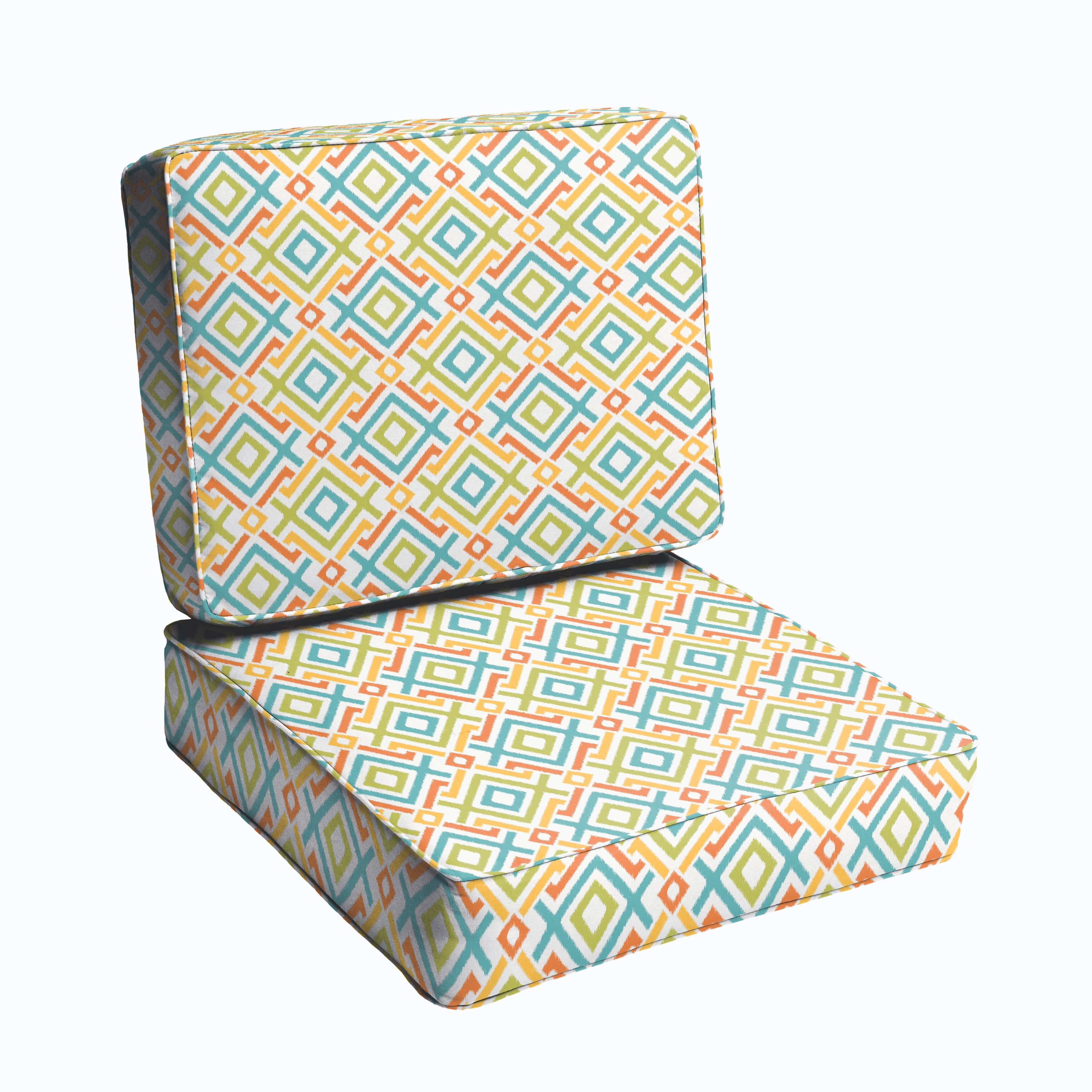 Bungalow Rose 2 Piece Outdoor Chair Cushion Set – 2 Piece Outdoor Chair Cushions