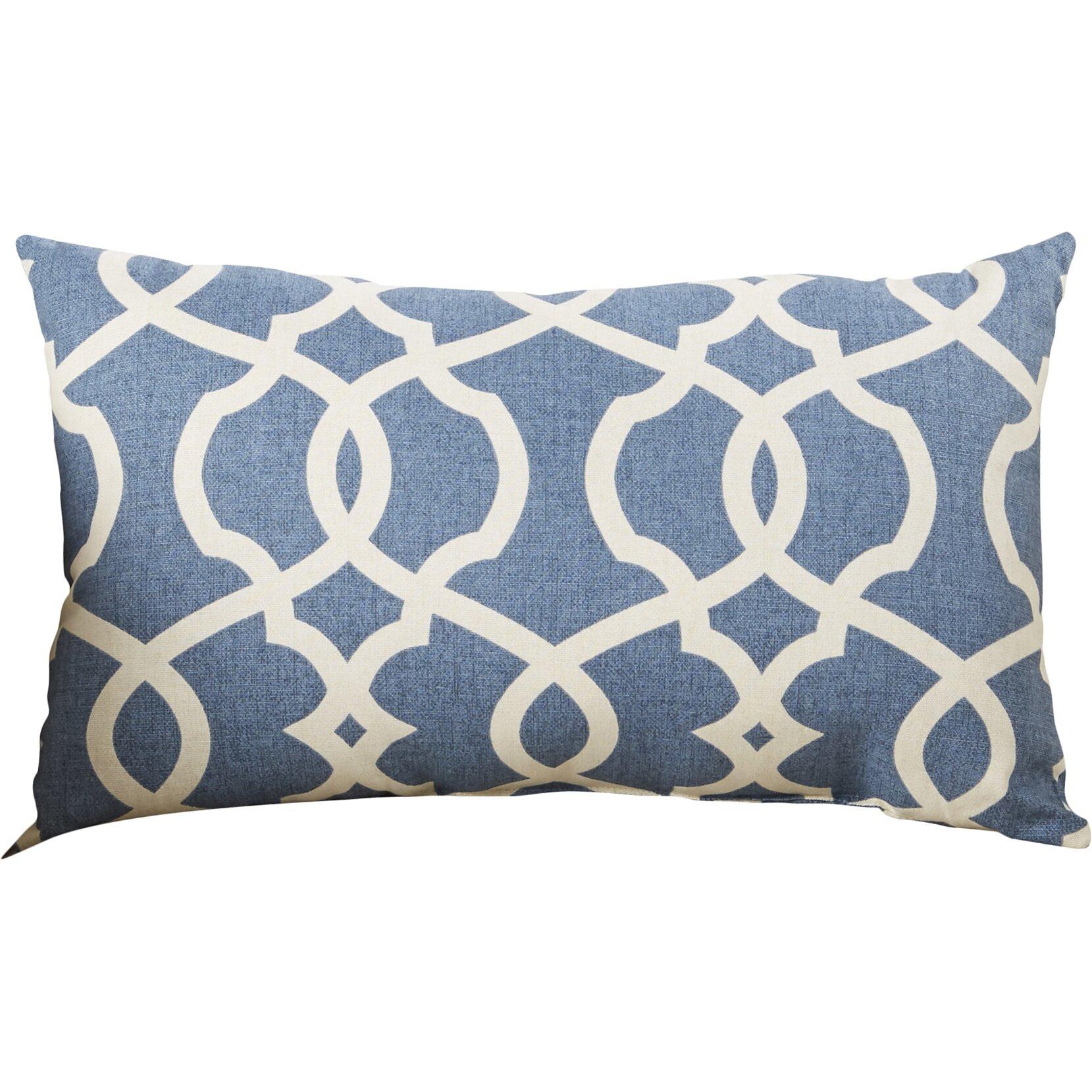 Brown and teal throw pillows - Bungalow Rose Alberts Cotton Lumbar Throw Pillow