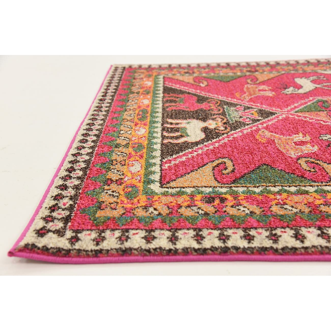 Bungalow Rose Rohini Pink Area Rug & Reviews