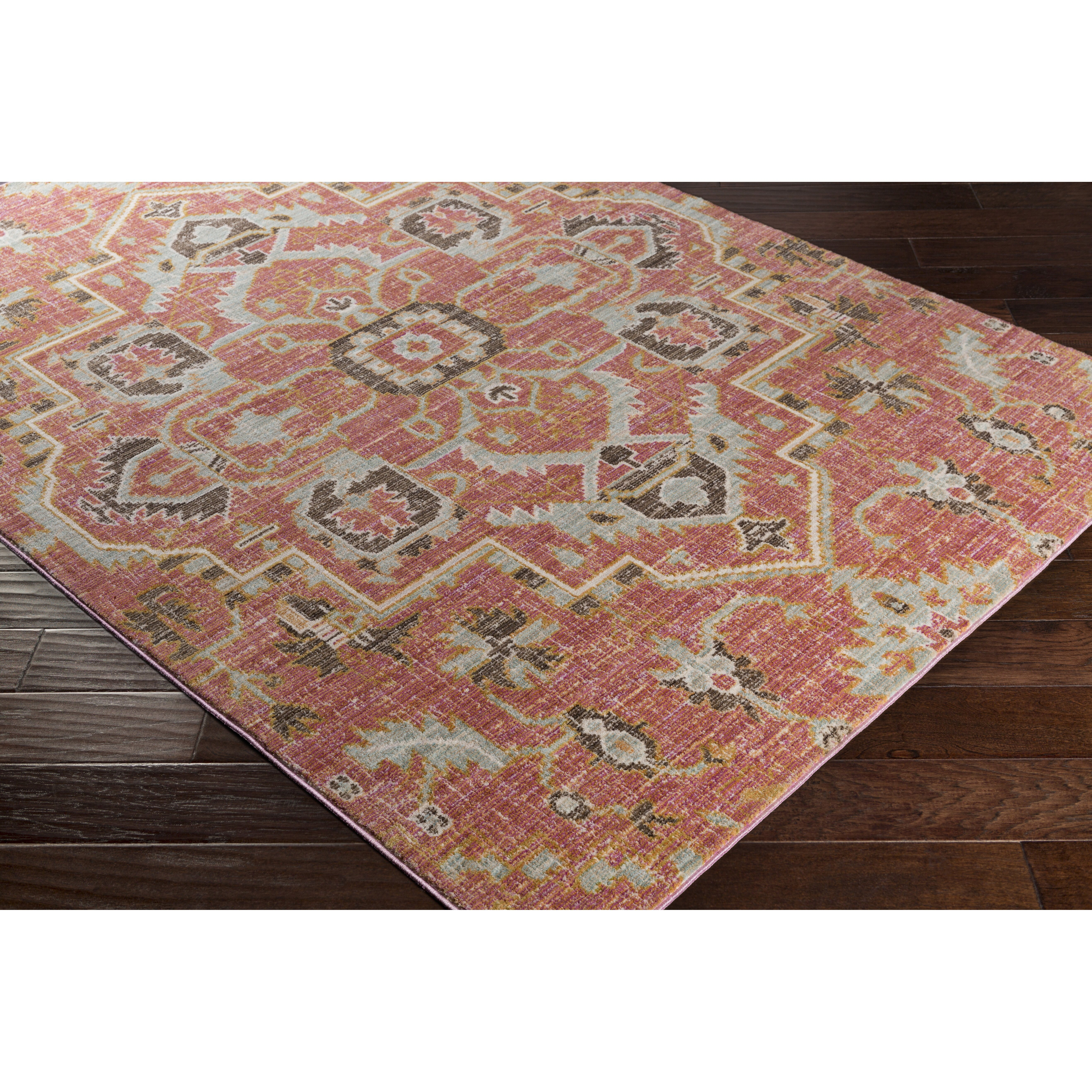 Bungalow Rose Kamil Pink / Yellow Area Rug & Reviews