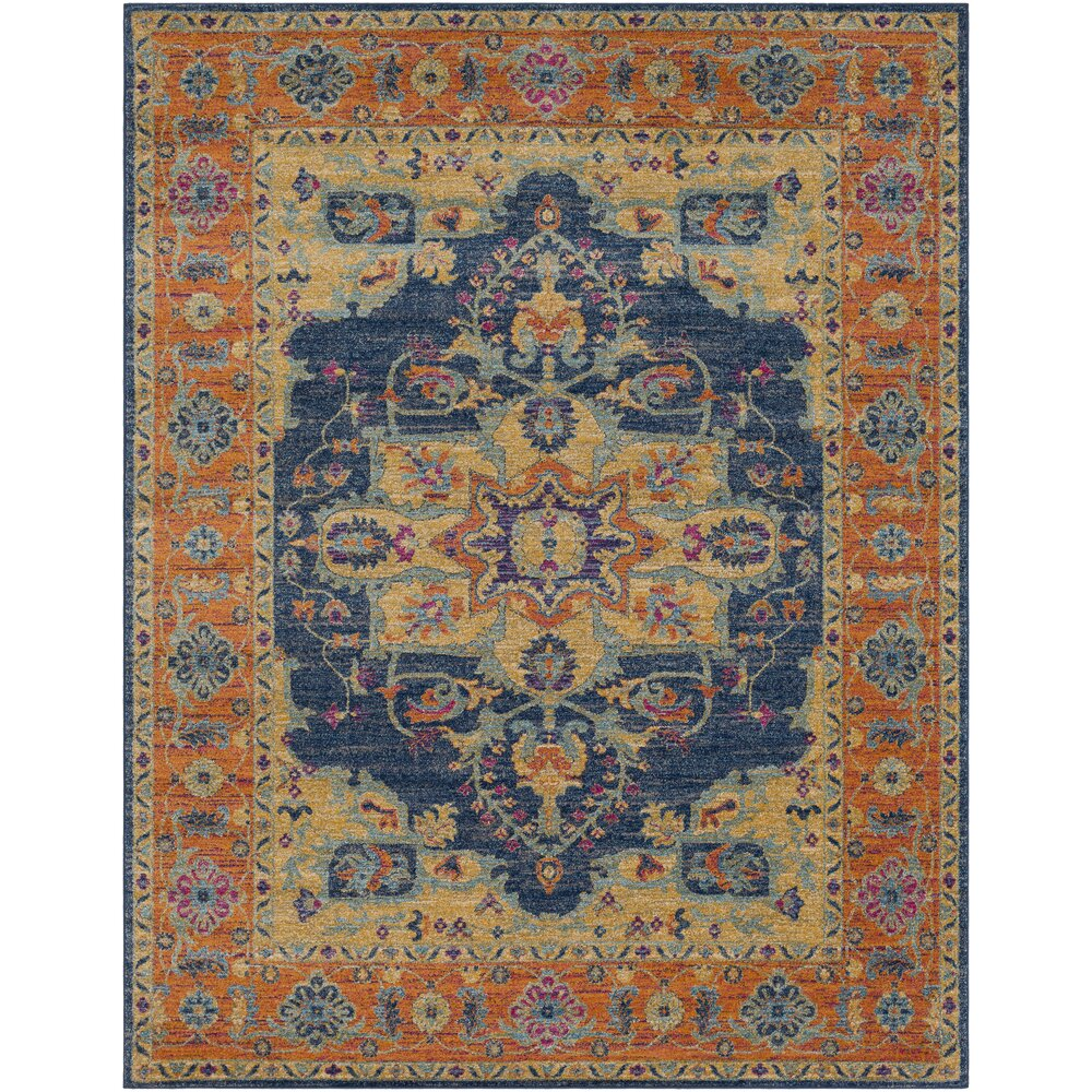 Orange And Blue Area Rug Home Decor