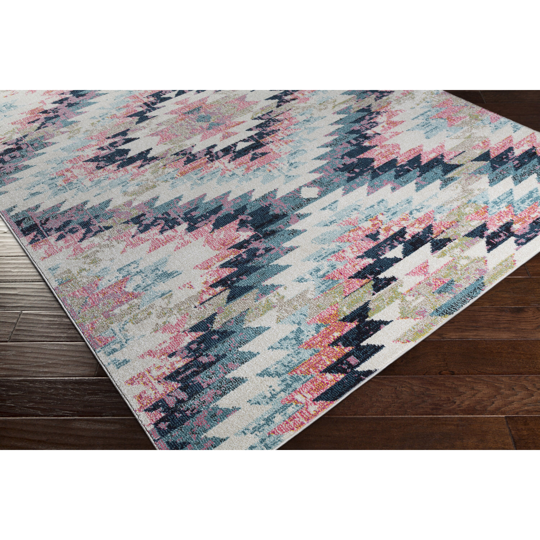 bungalow rose gansevoort blue pink area rug reviews wayfair. Black Bedroom Furniture Sets. Home Design Ideas