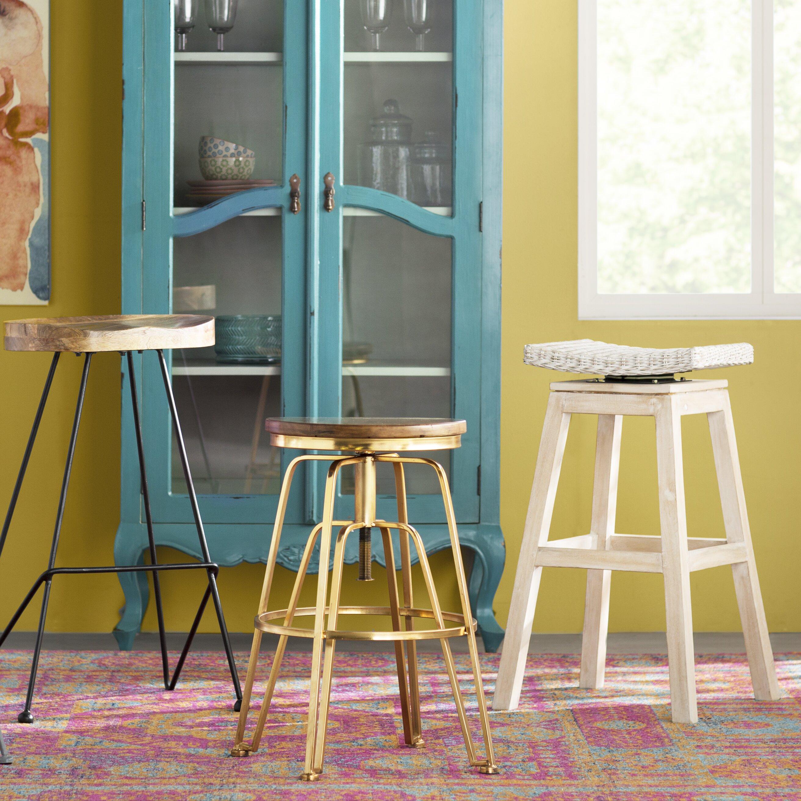 image quarter bamboo bathroom stool bungalow rose rinelle ampquot  bungalow rose rinelle  swivel bar stool