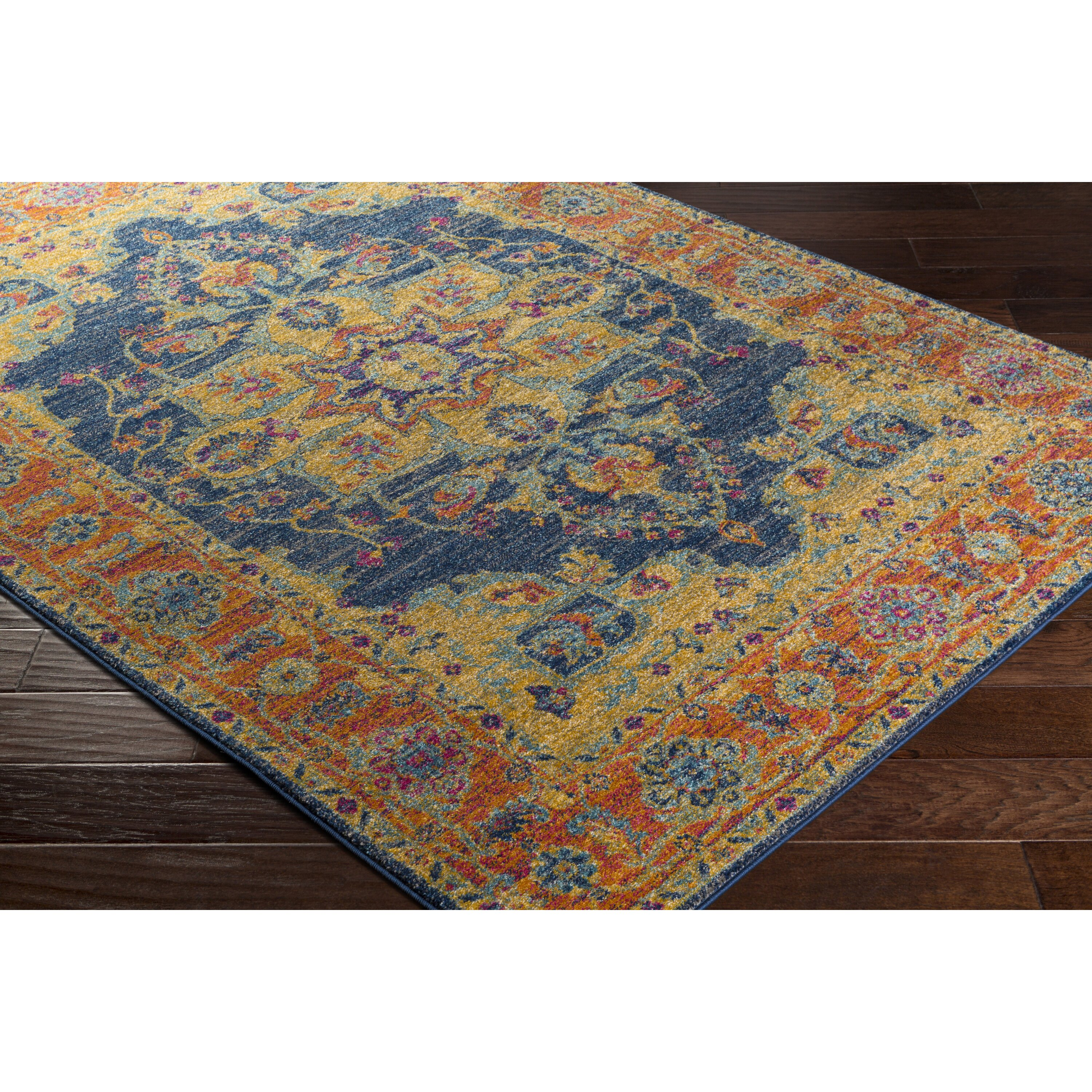 bungalow rose andover blue orange area rug reviews. Black Bedroom Furniture Sets. Home Design Ideas