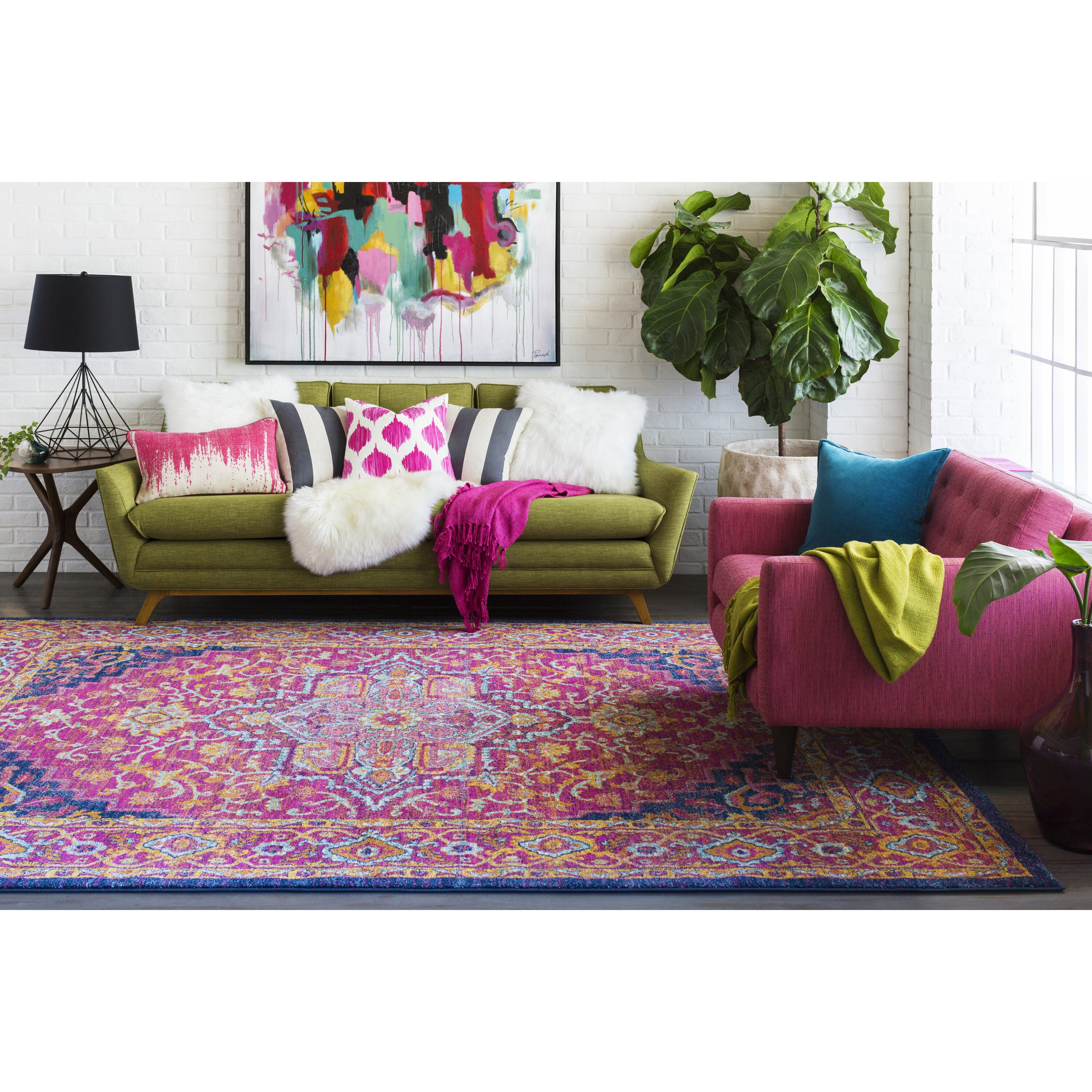 Pink Rugs For Living Room