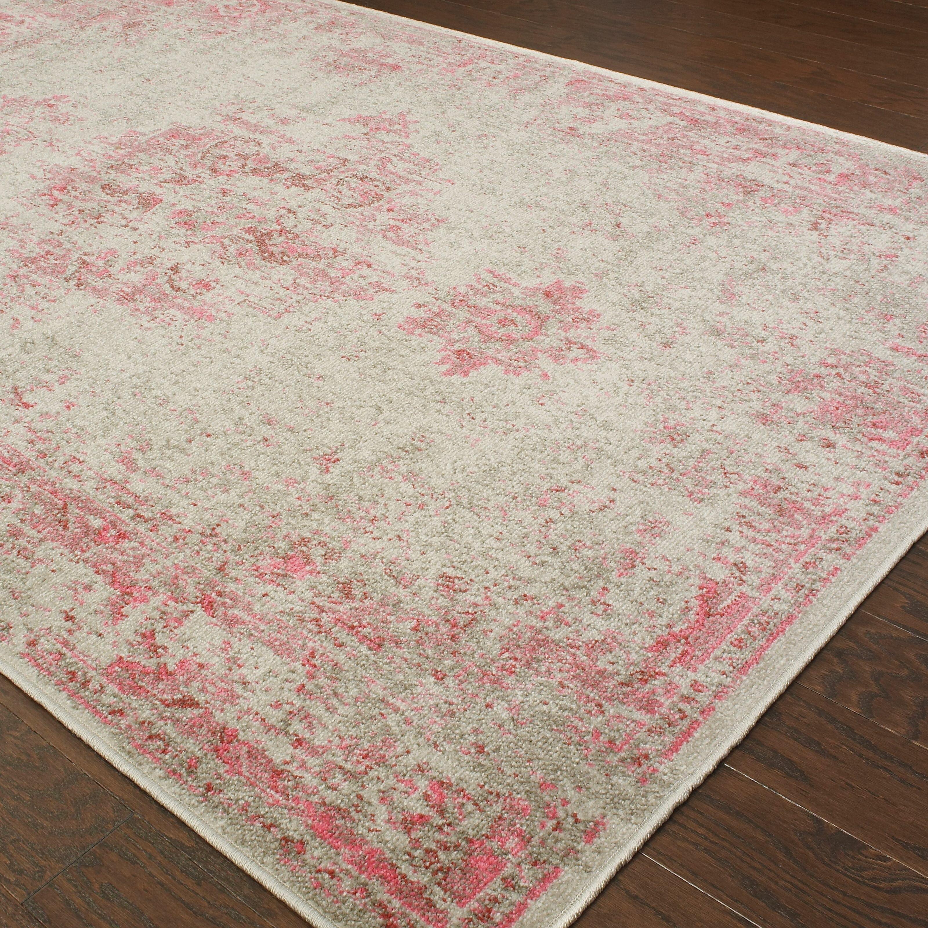 bungalow rose raiden graypink area rug