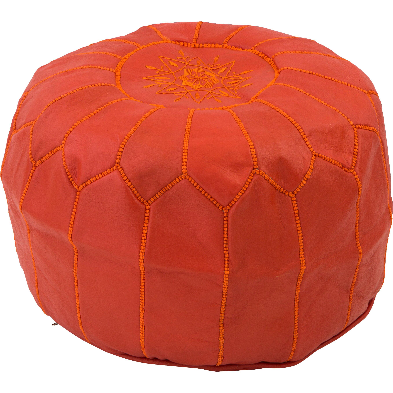 bungalow rose alinda moroccan pouf cover ottaman reviews. Black Bedroom Furniture Sets. Home Design Ideas