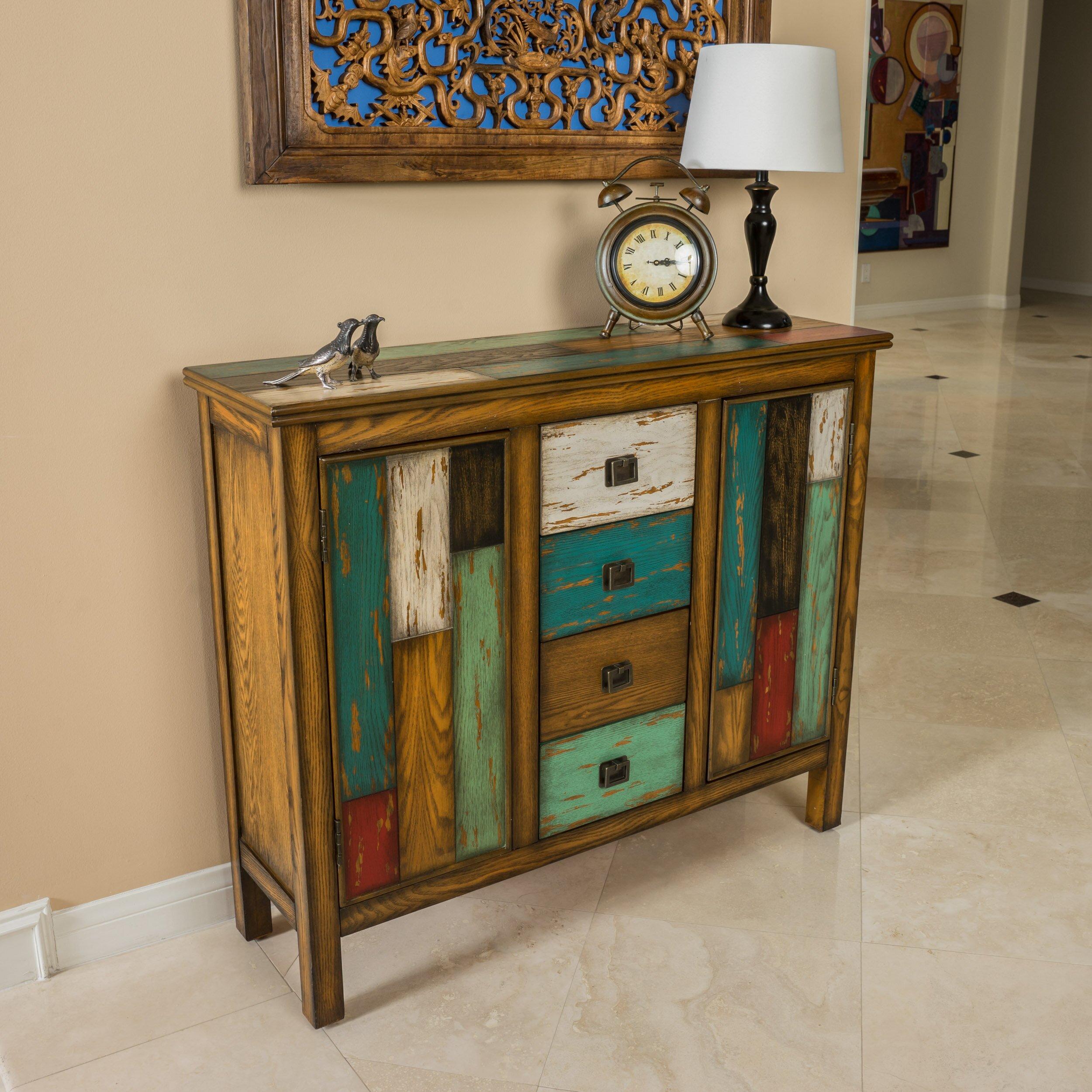 Bungalow Rose Navya Wood Storage Bedroom Bench Reviews: Bungalow Rose Montgomery 4 Drawer 2 Door Cabinet & Reviews