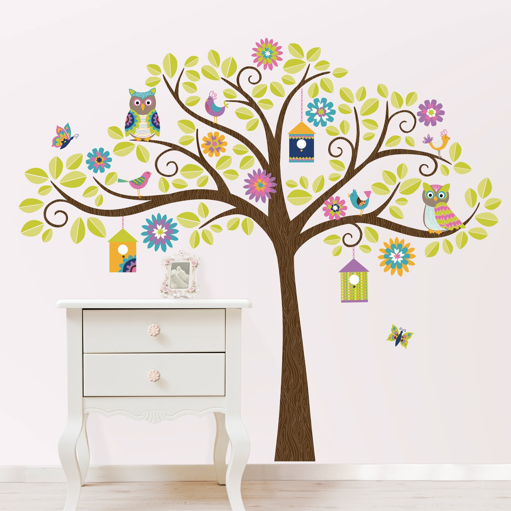 Viv + Raeu0026trade; Jacob Owl Tree Wall Decal