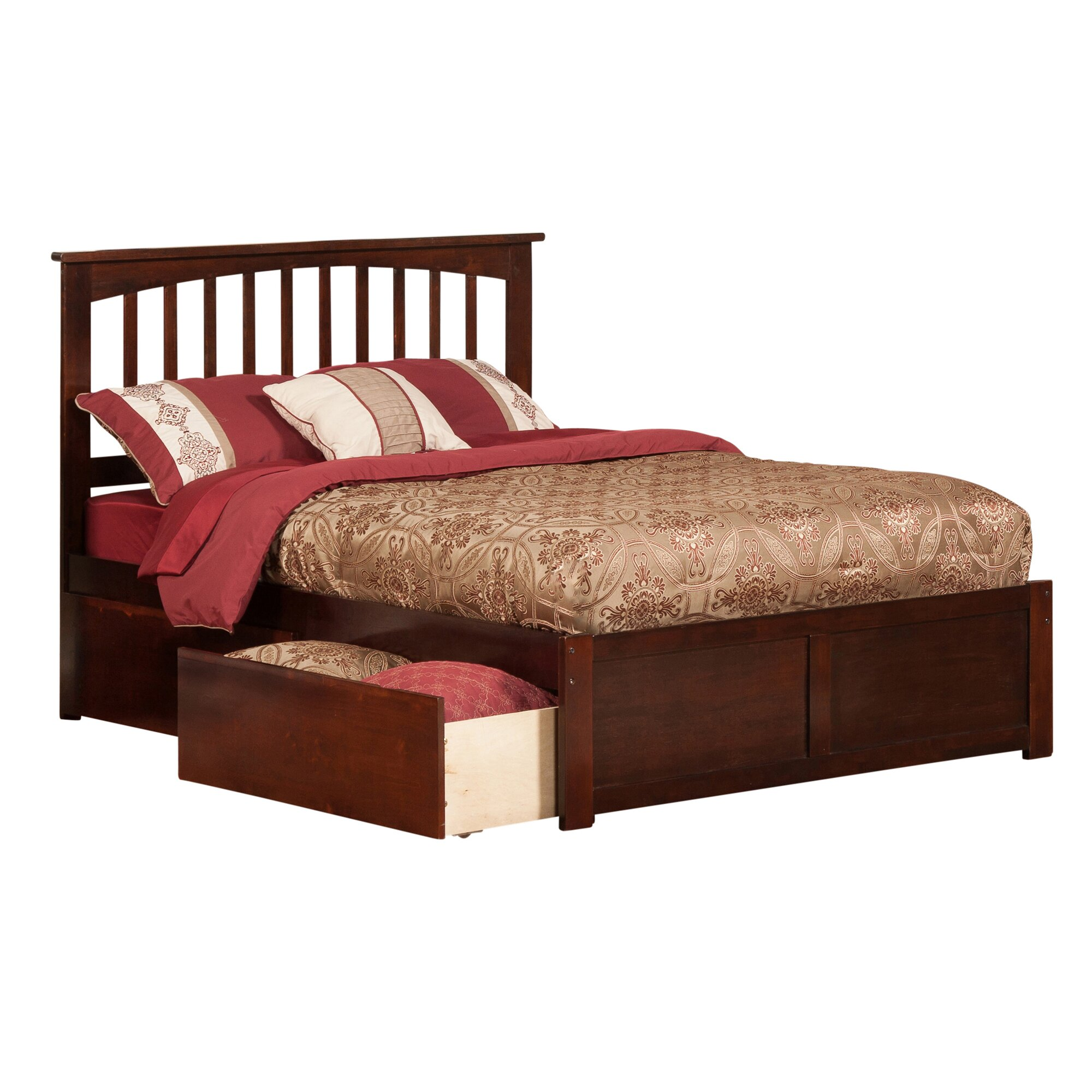 Viv rae enrique mission panel 3 piece bedroom set wayfair for Bedroom 3 piece sets