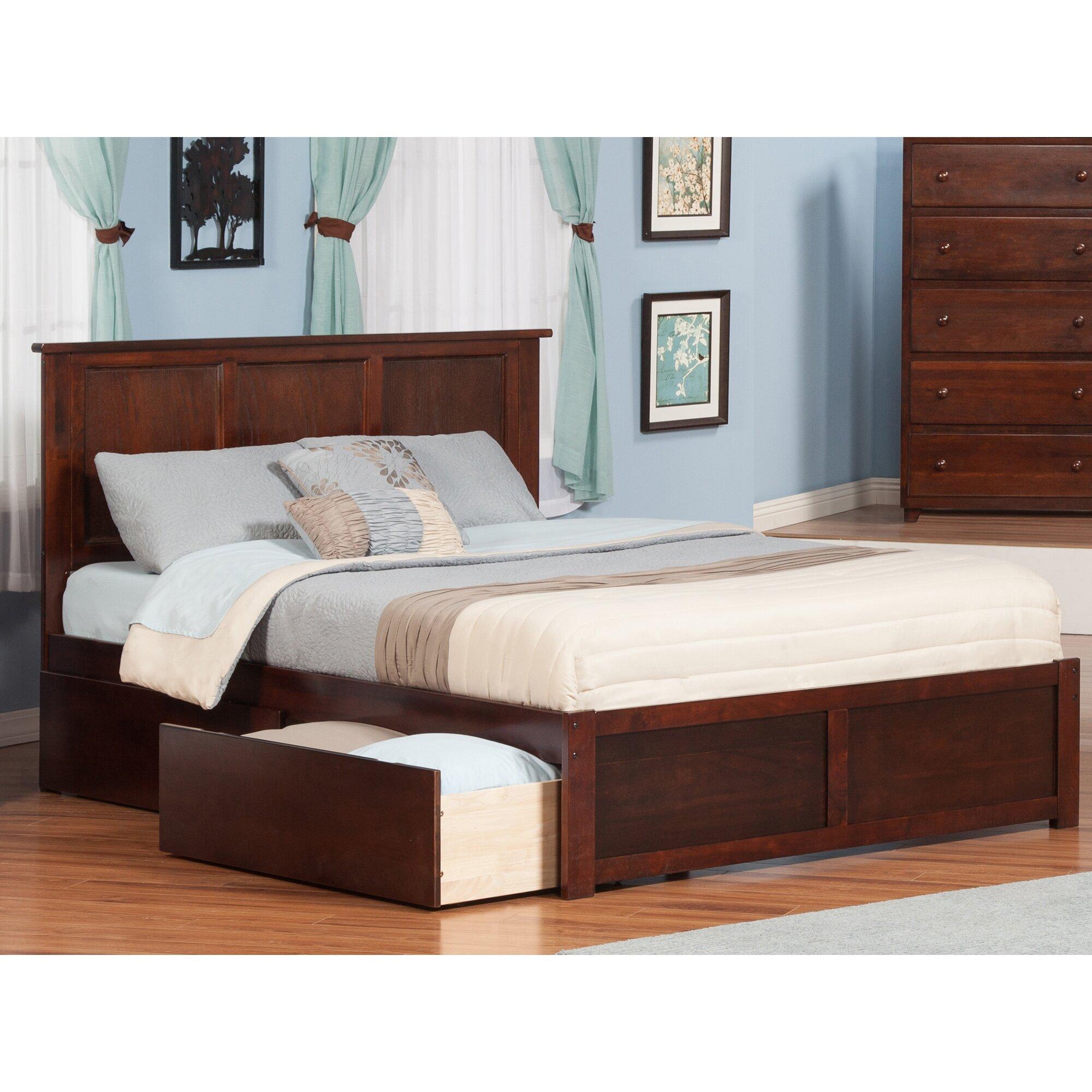 Viv rae greyson storage platform bed reviews wayfair - Platform bedroom sets with storage ...