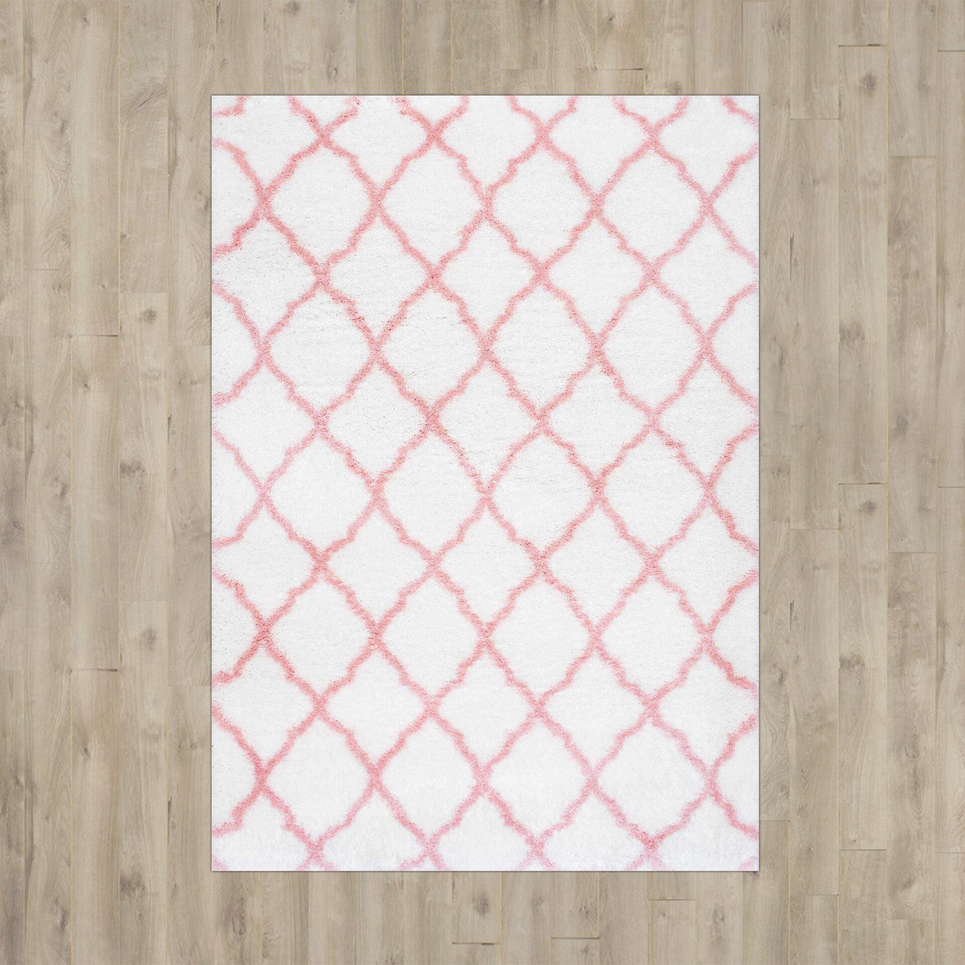 Viv + Rae Kellie Hand-Tufted Baby Pink Area Rug