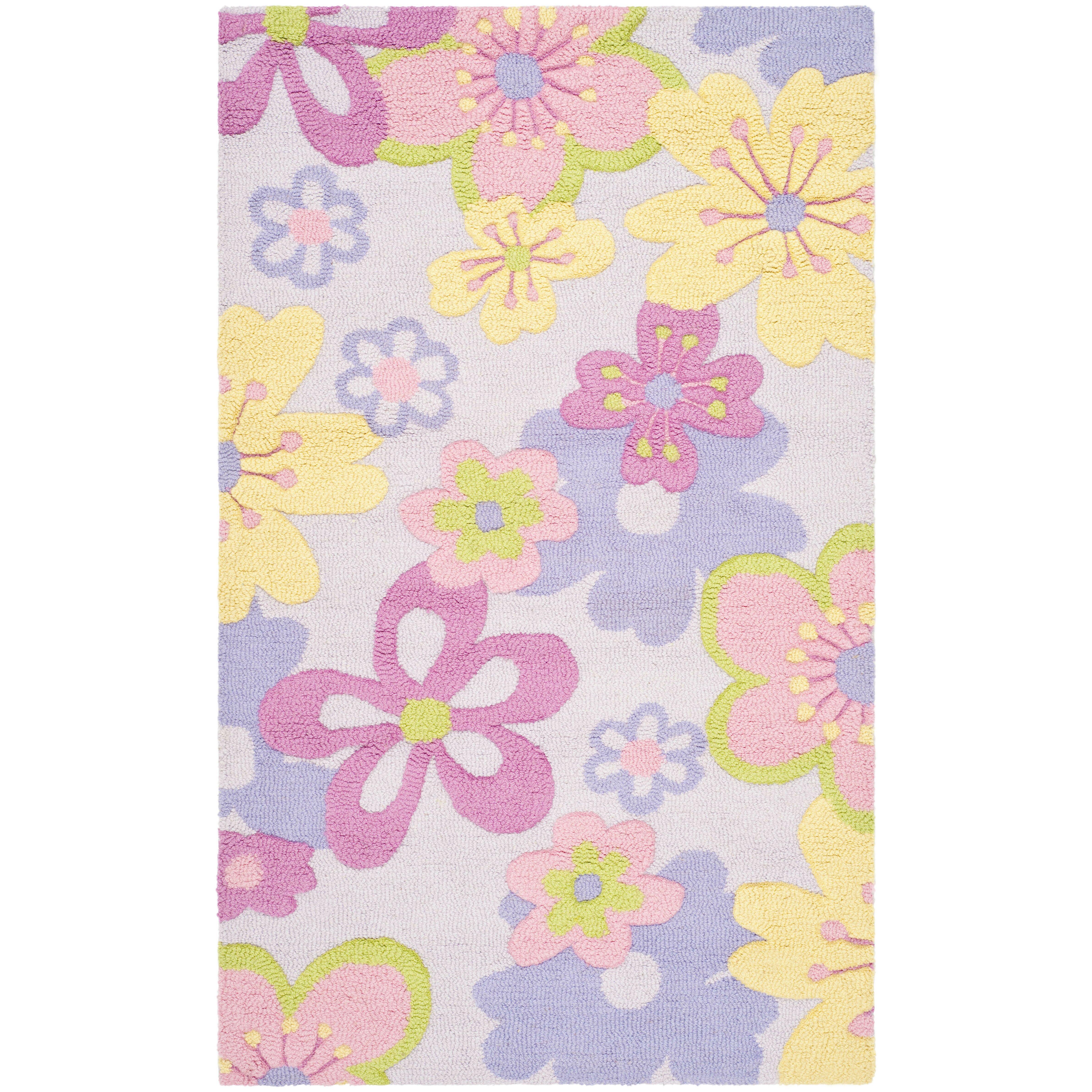 viv rae levar handtufted pinkpurple area rug bliss shag hot pink