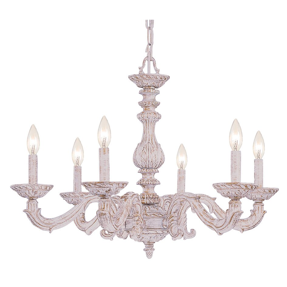 Viv Rae Odessa 6Light CandleStyle Chandelier Reviews – Candle Crystal Chandelier