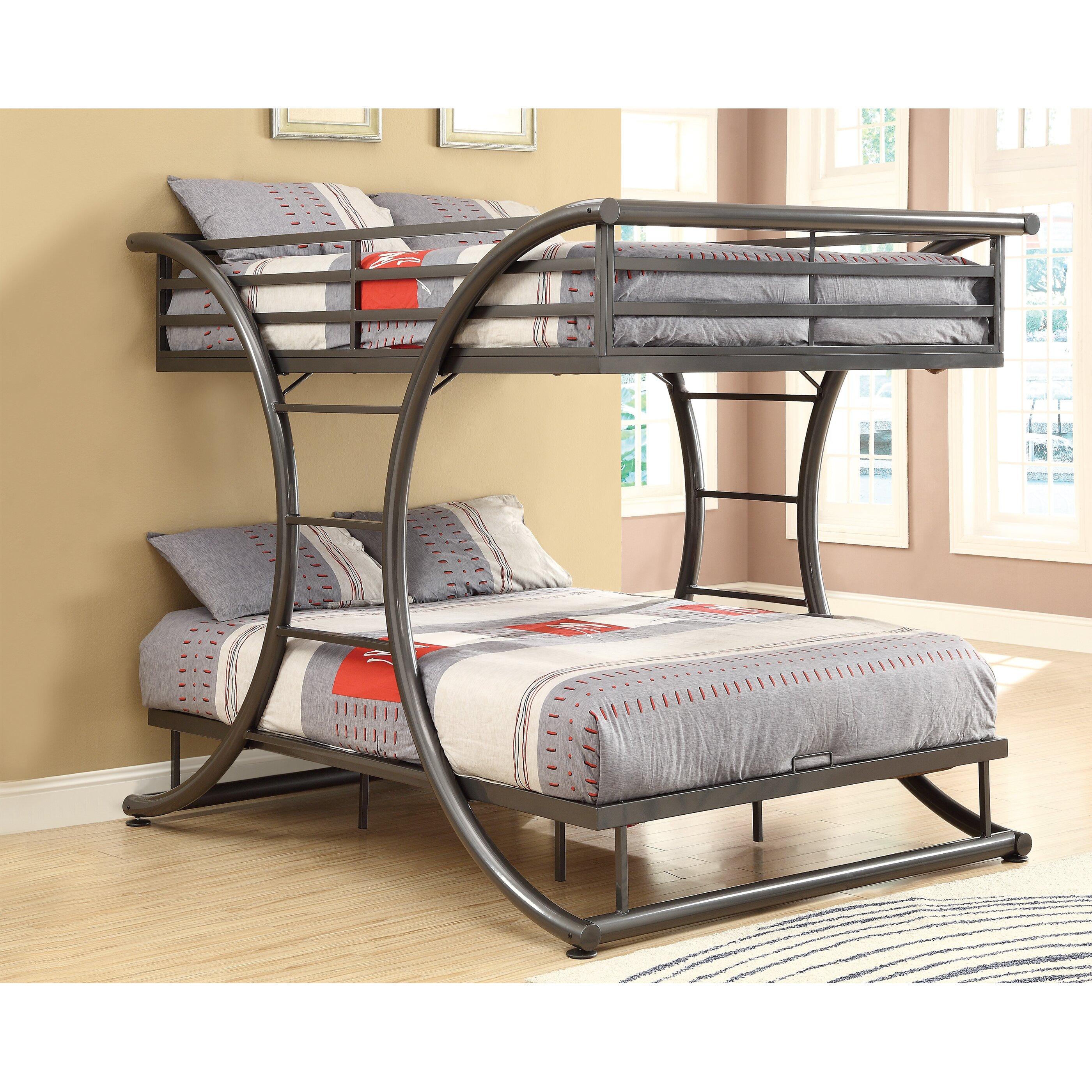 Loft bed for full size mattress - Valerie Full Over Full Bunk Bed