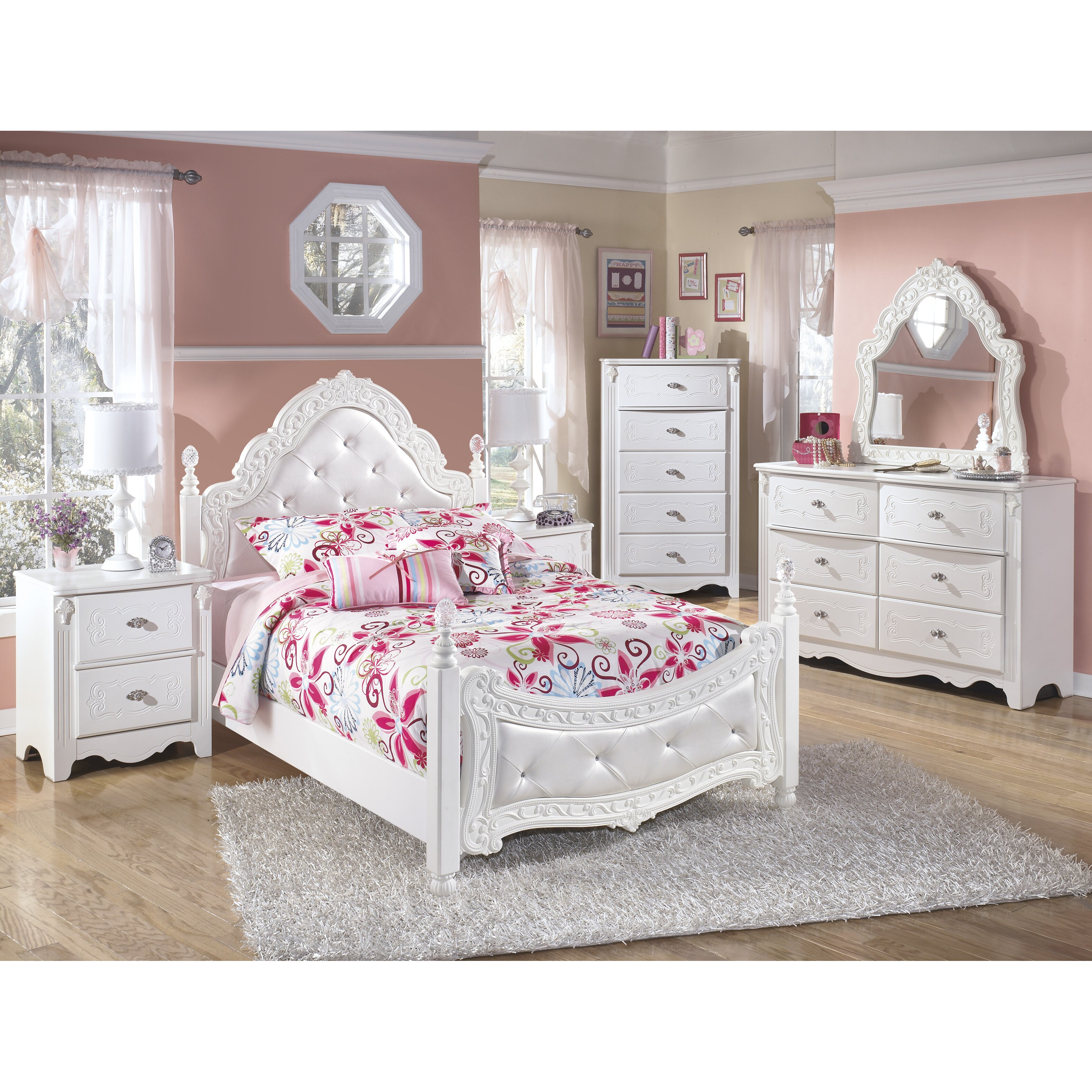 QUICK VIEW  Emma Four Poster Customizable Bedroom Set. Girls Kids  Bedroom Sets You ll Love   Wayfair