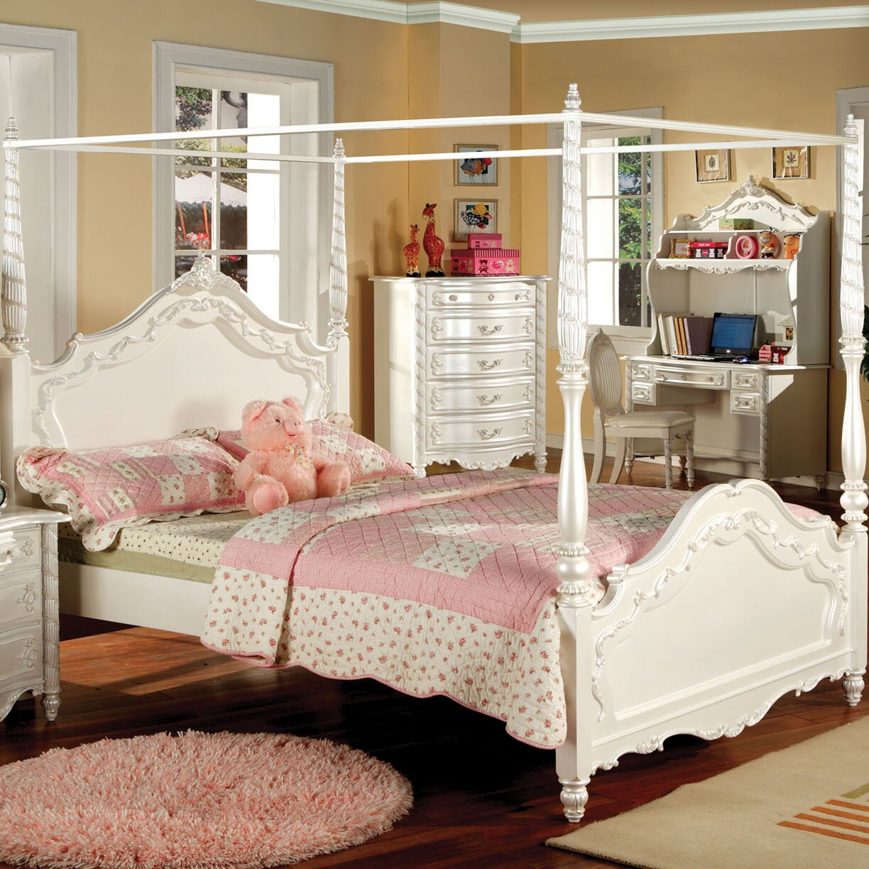 Canopy bed for teenage girls - Ca Canopy Bed For Teenage Girls Darrien Canopy Bed