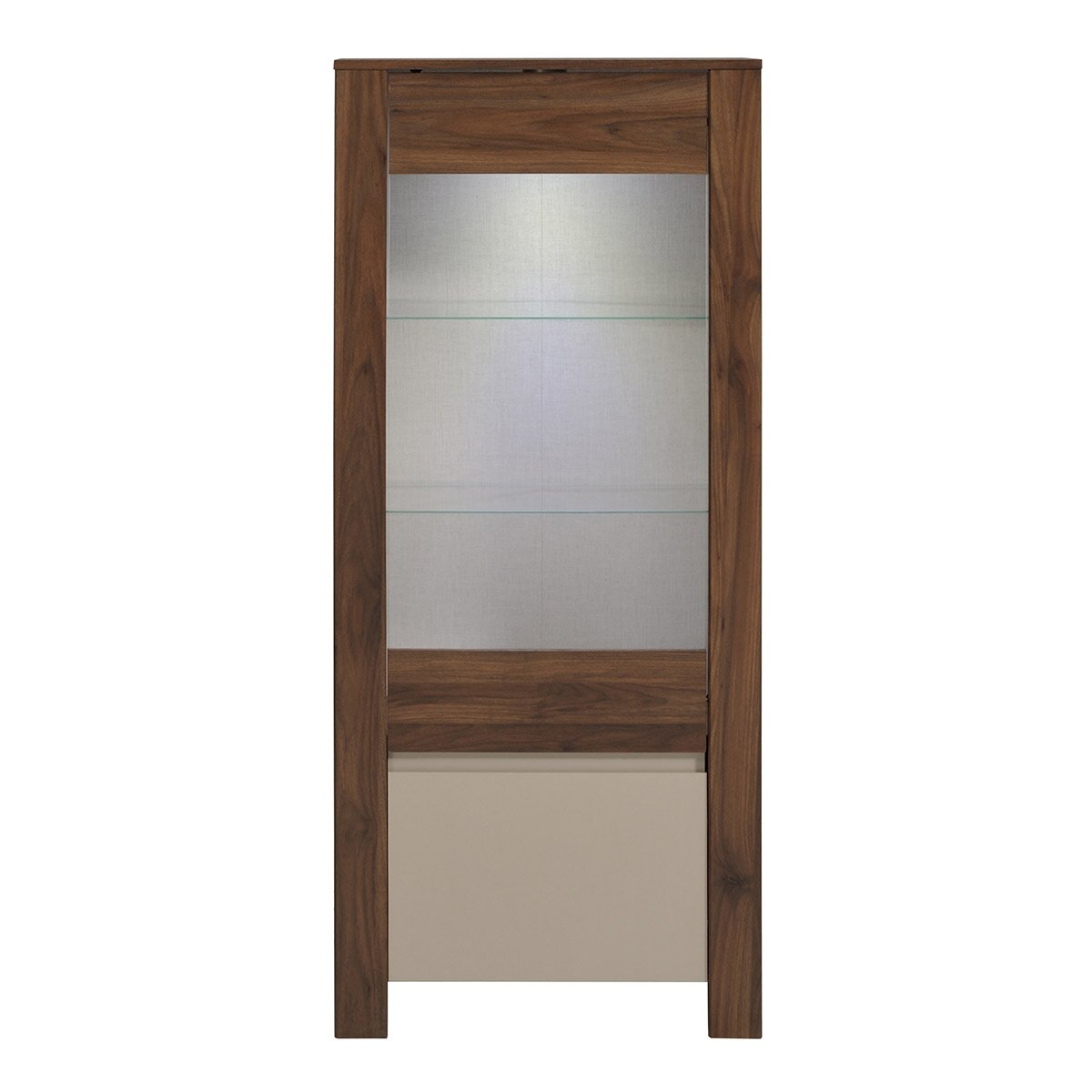 Wooden Storage Cabinets With Doors Parisot Tiago 60 H X 25 W X 157 D Glass Door Storage Cabinet
