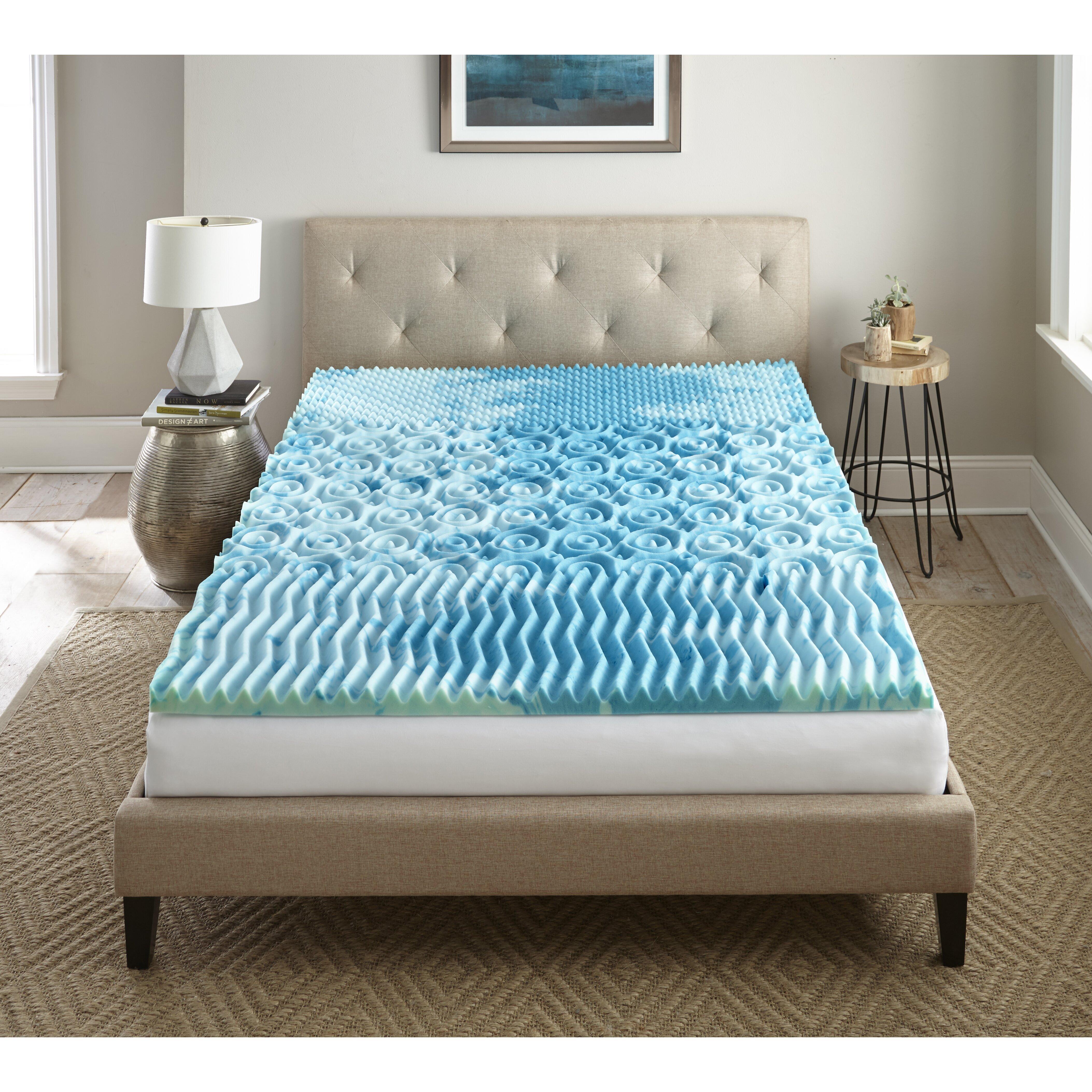 lane furniture sleep cool gellux 2 memory foam mattress topper reviews wayfair. Black Bedroom Furniture Sets. Home Design Ideas