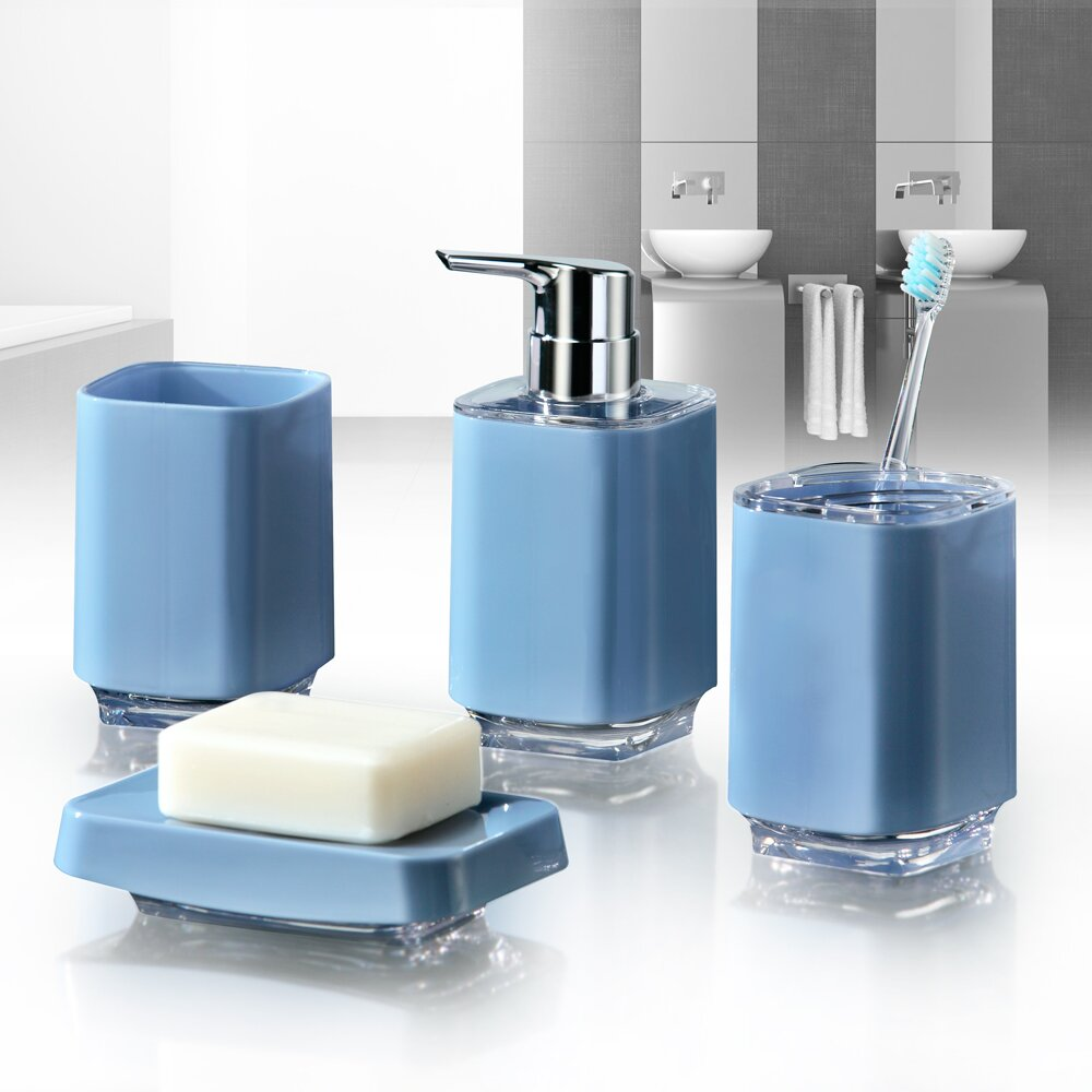 immanuel infinity 4-piece bathroom accessory set & reviews   wayfair