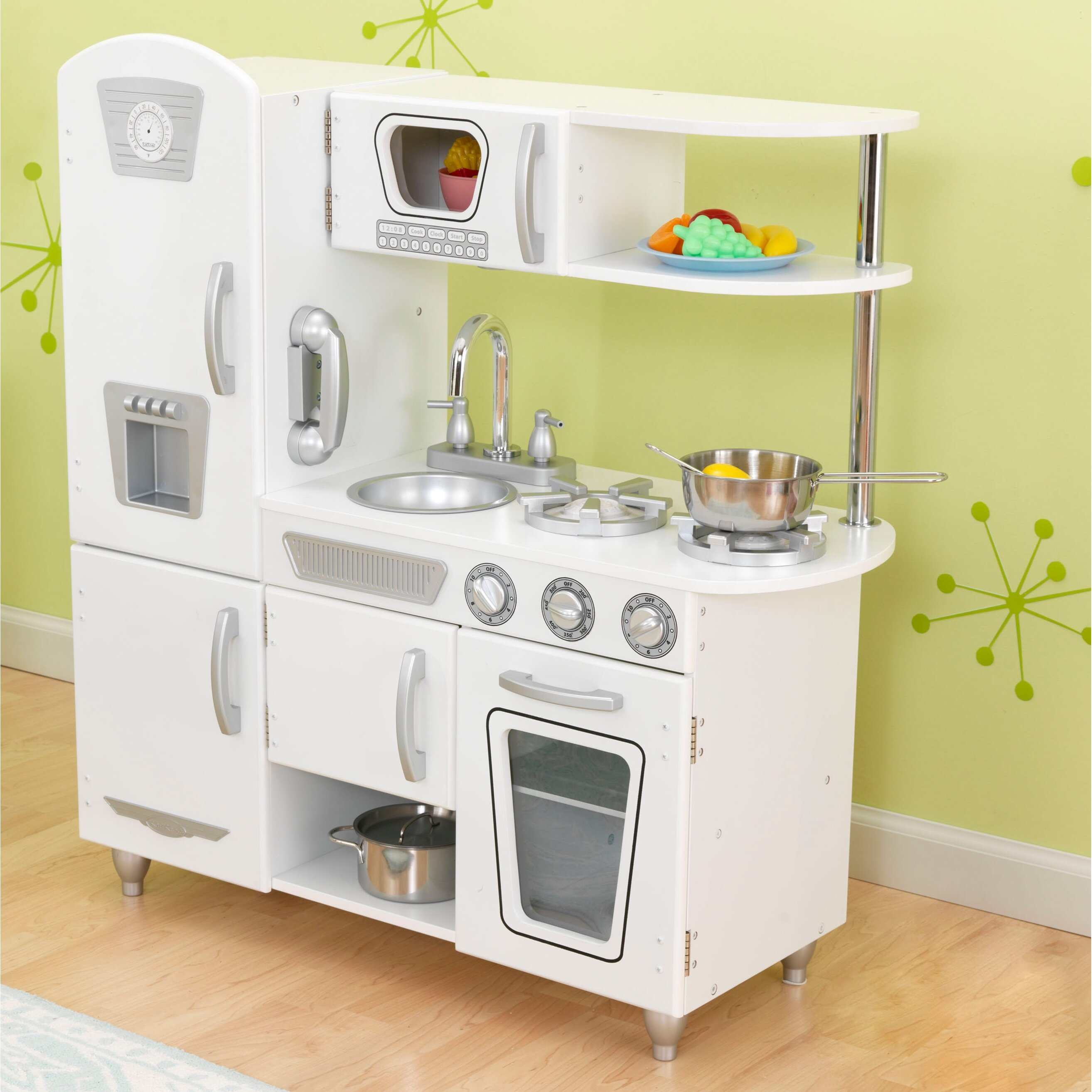 Kid Craft Retro Kitchen Kidkraft Vintage Kitchen Reviews Wayfair