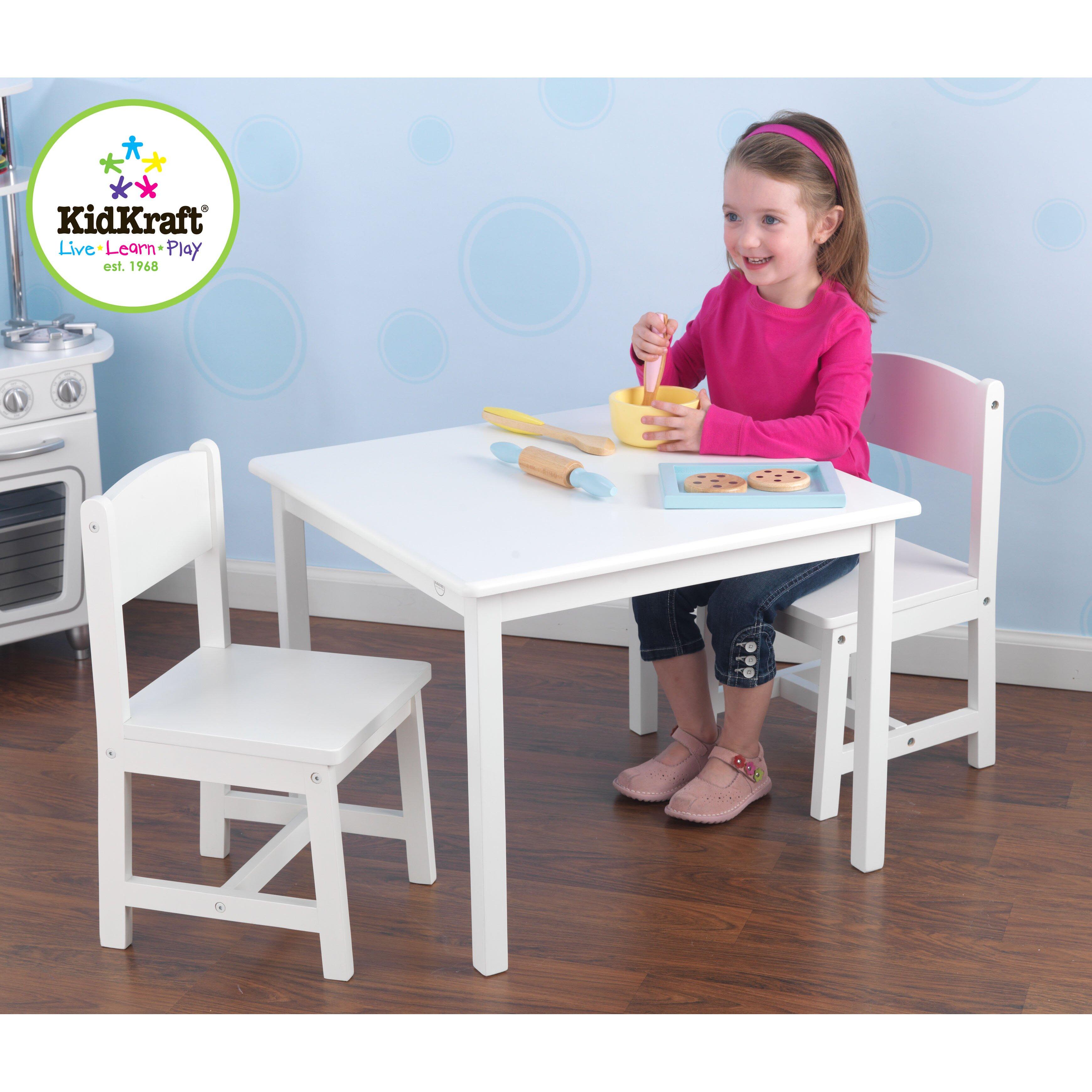 Kidkraft Heart Table And Chair Set Kidkraft Princess Vanity Table And Chair Set Pink Purple Globorank