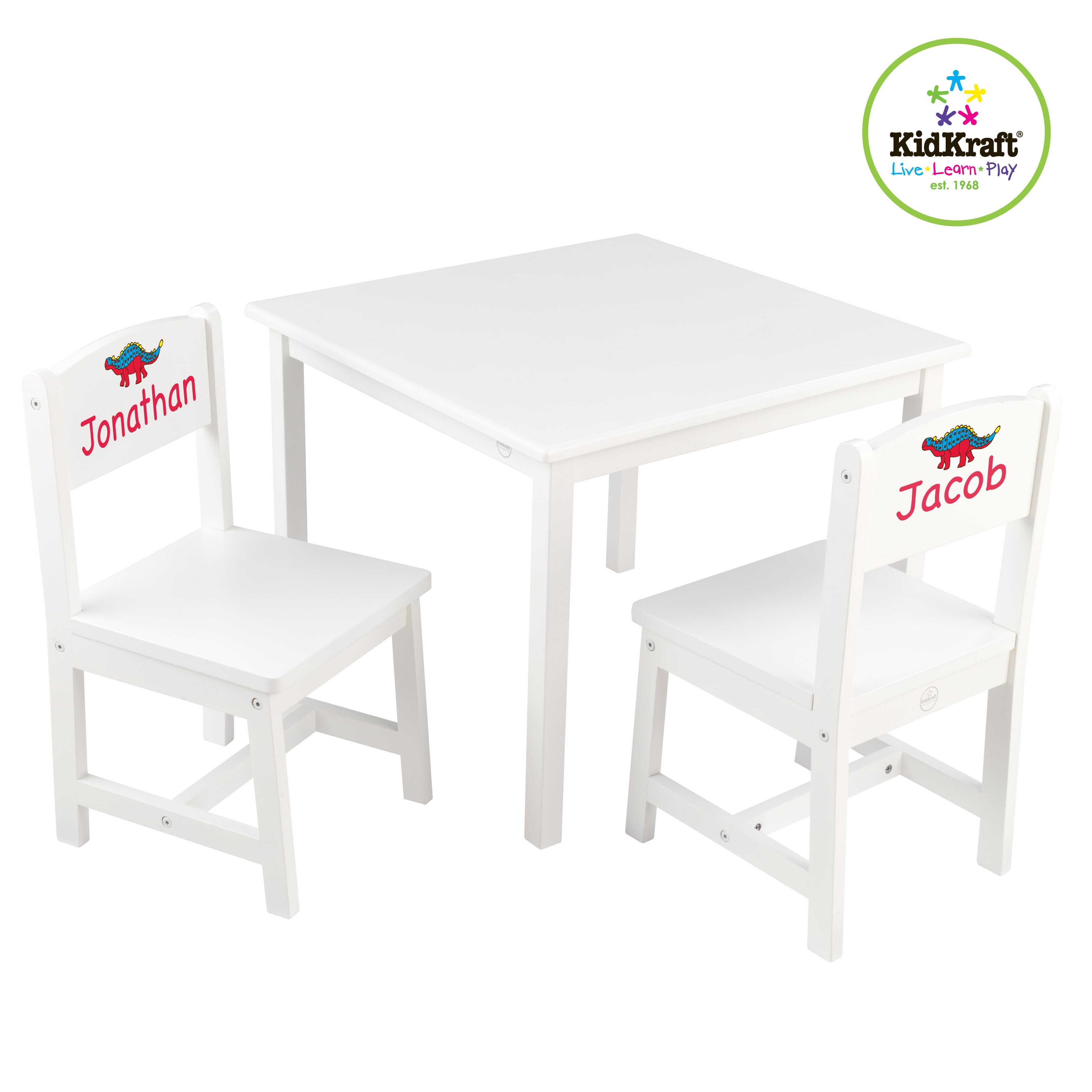 Kidkraft Heart Table And Chair Set Kidkraft Personalized Aspen Kids 3 Piece Table And Chair Set