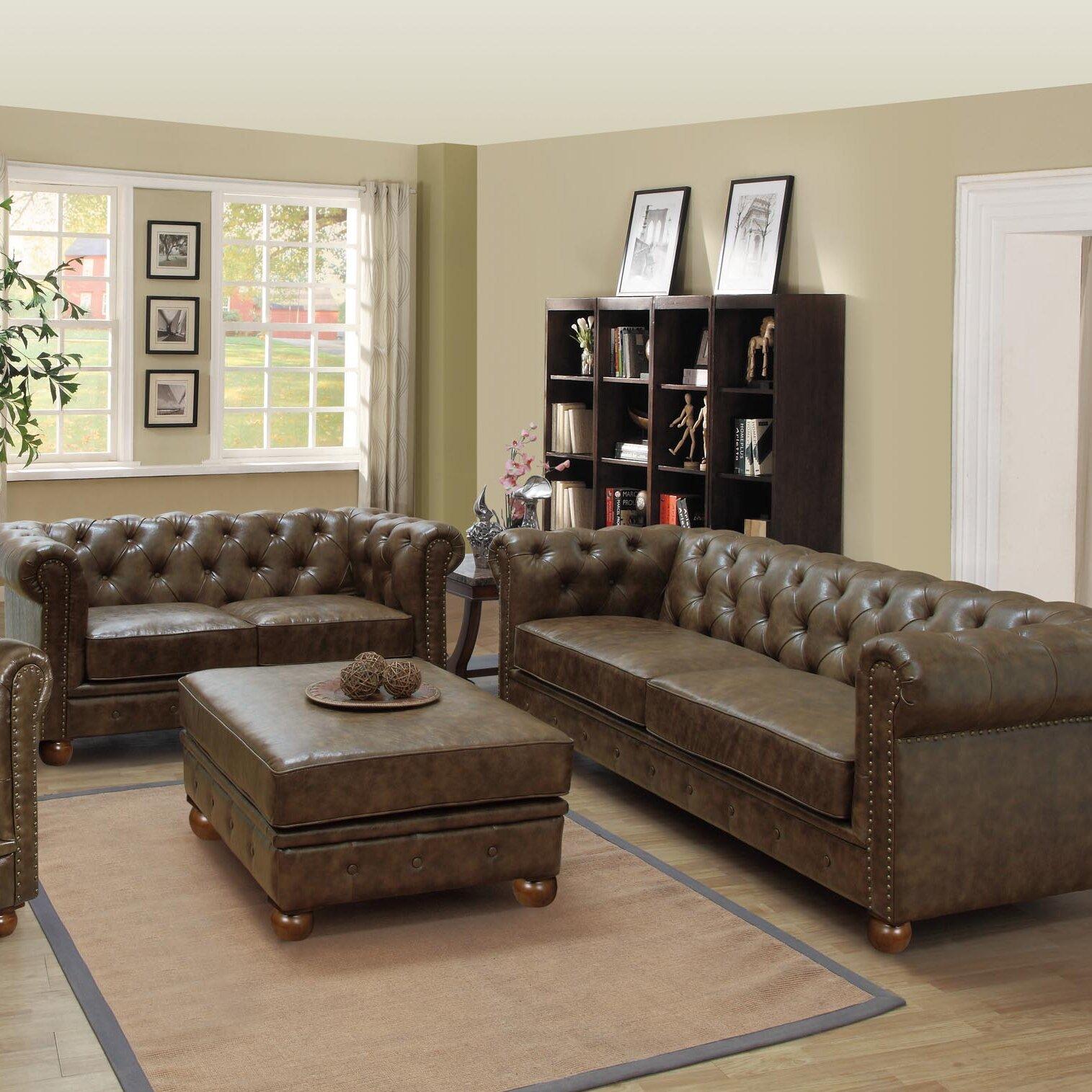 Armen Living Winston Vintage Living Room Collection  Reviews - Antique living room furniture
