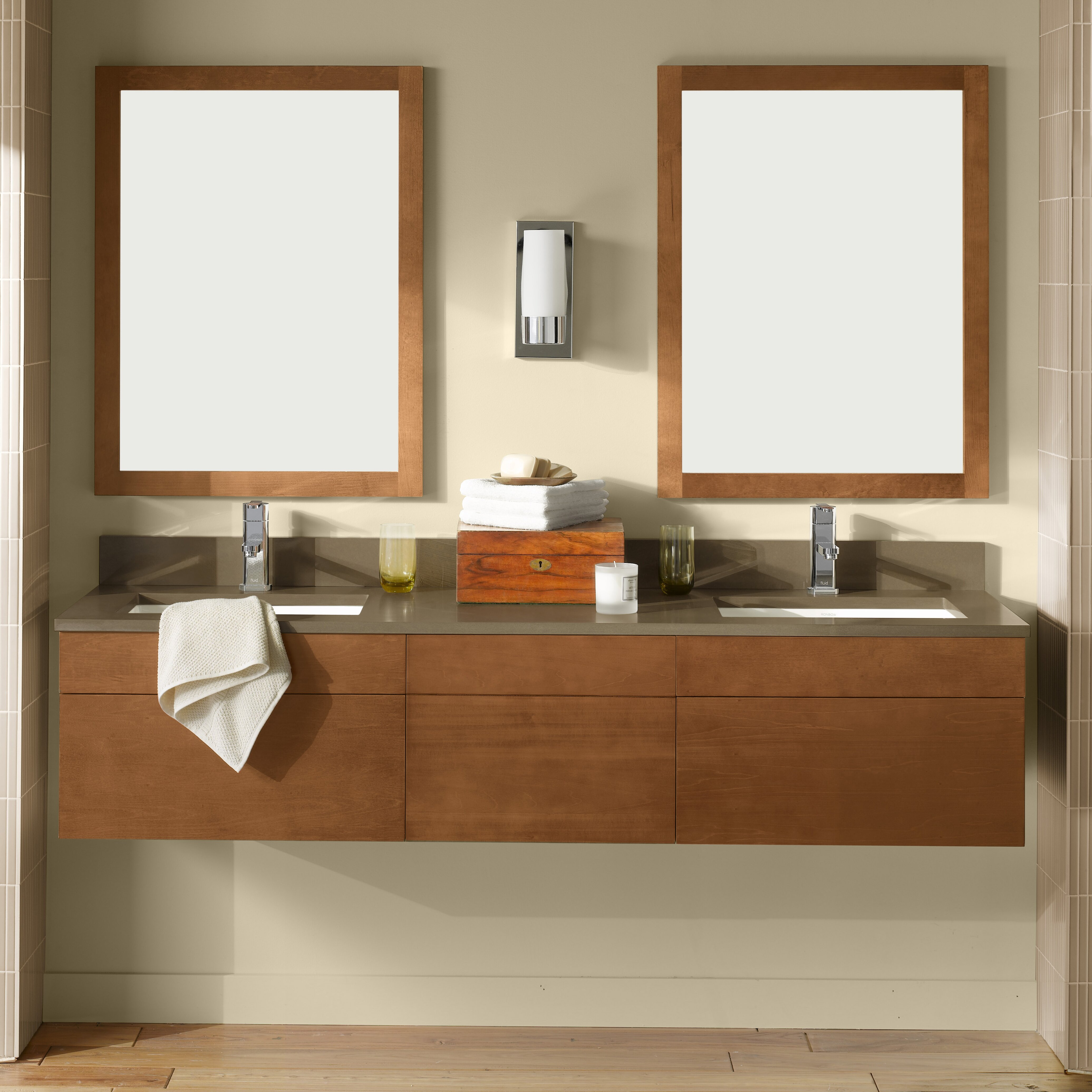 "ronbow rebecca "" double wall mount bathroom vanity set  reviews, Bathroom decor"