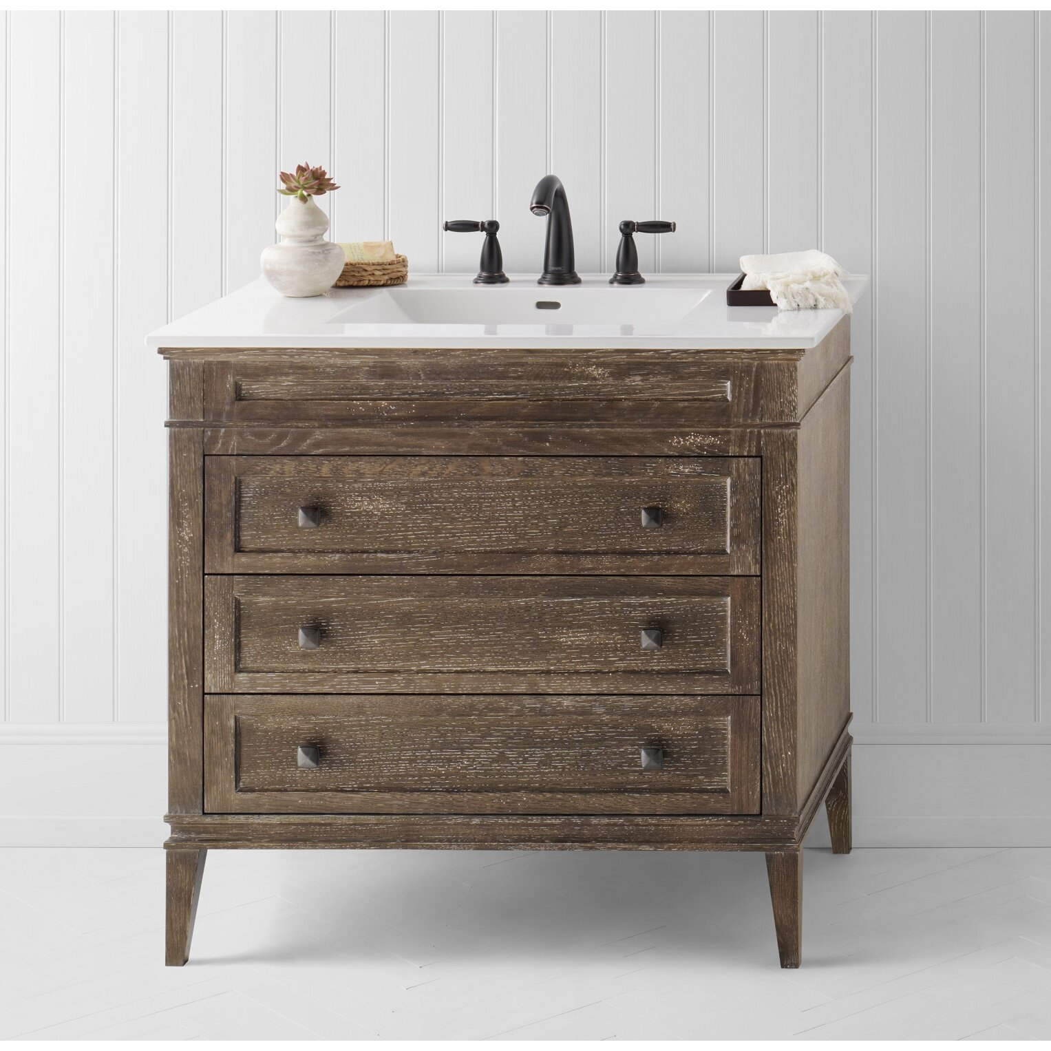 "Rustic Bathroom Vanity Set: Ronbow Laurel 36"" Single Bathroom Vanity Set"