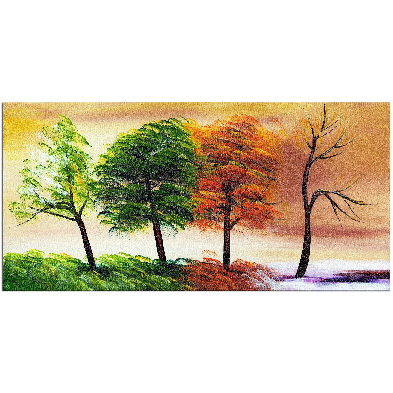DesignArt Four Seasons Graphic Art on Wrapped Canvas Wayfair - Kitchen Cabinet Discounts