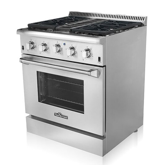 "Thorkitchen 30"" Free-Standing Dual Fuel Range & Reviews 