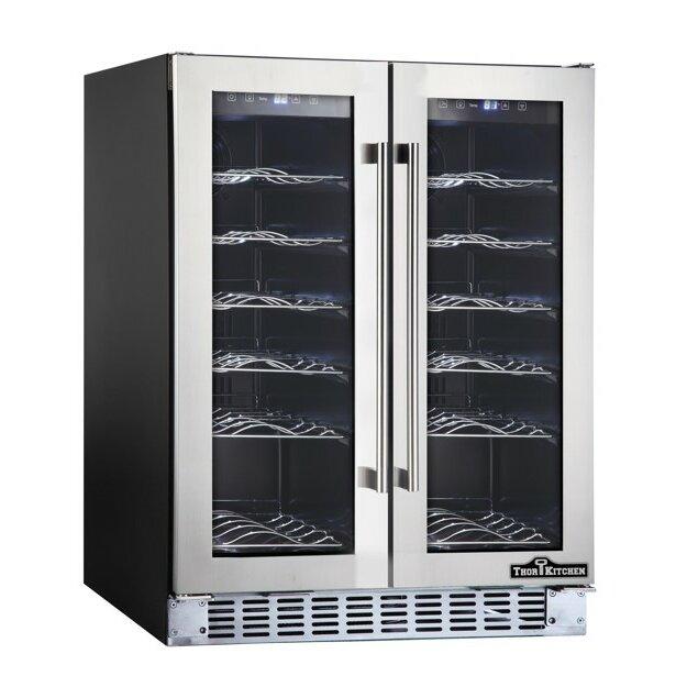 Thorkitchen 36 Bottle Dual Zone Built In Wine Refrigerator