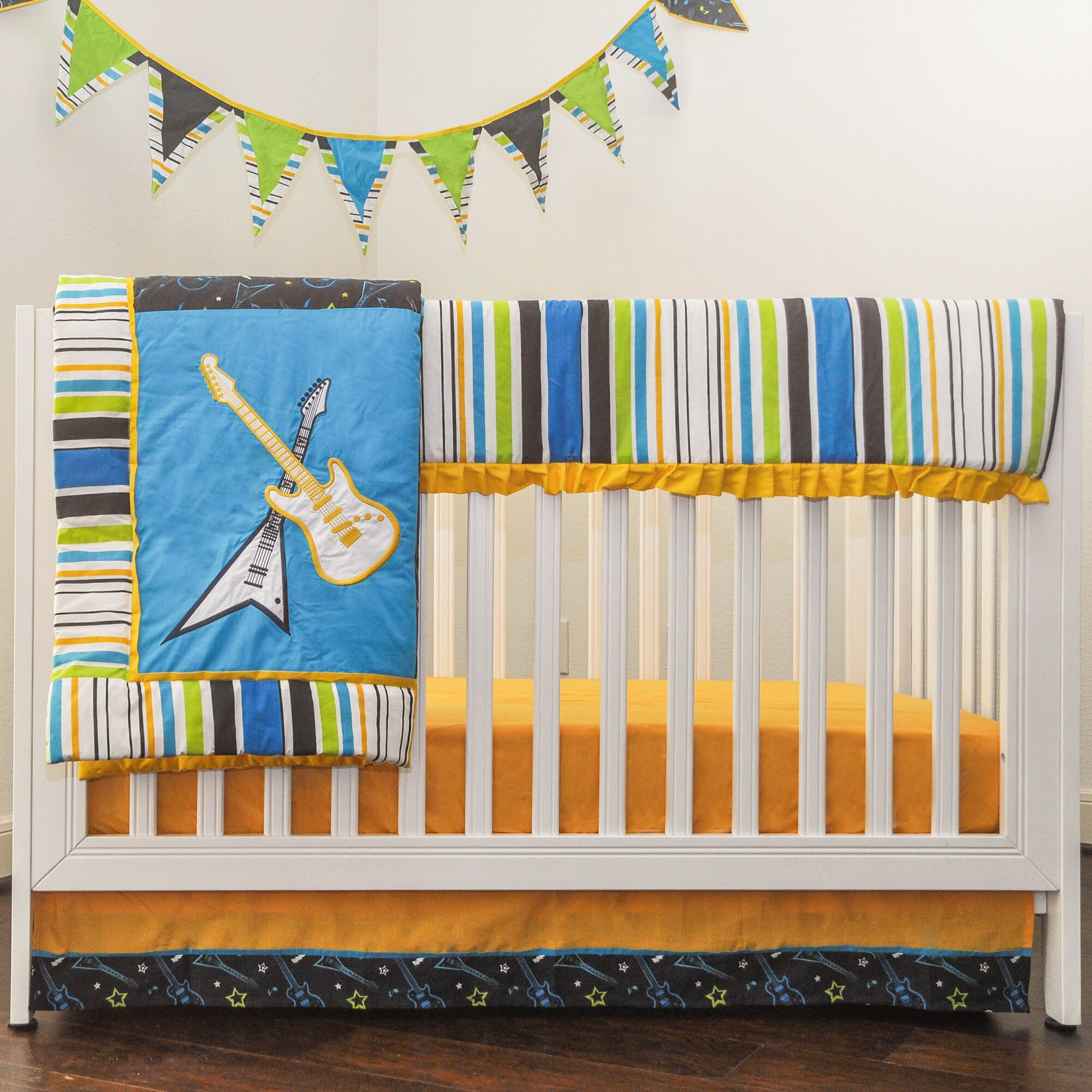 Crib for sale in palm bay - Pam Grace Creations Rockstar 10 Piece Crib Bedding Set