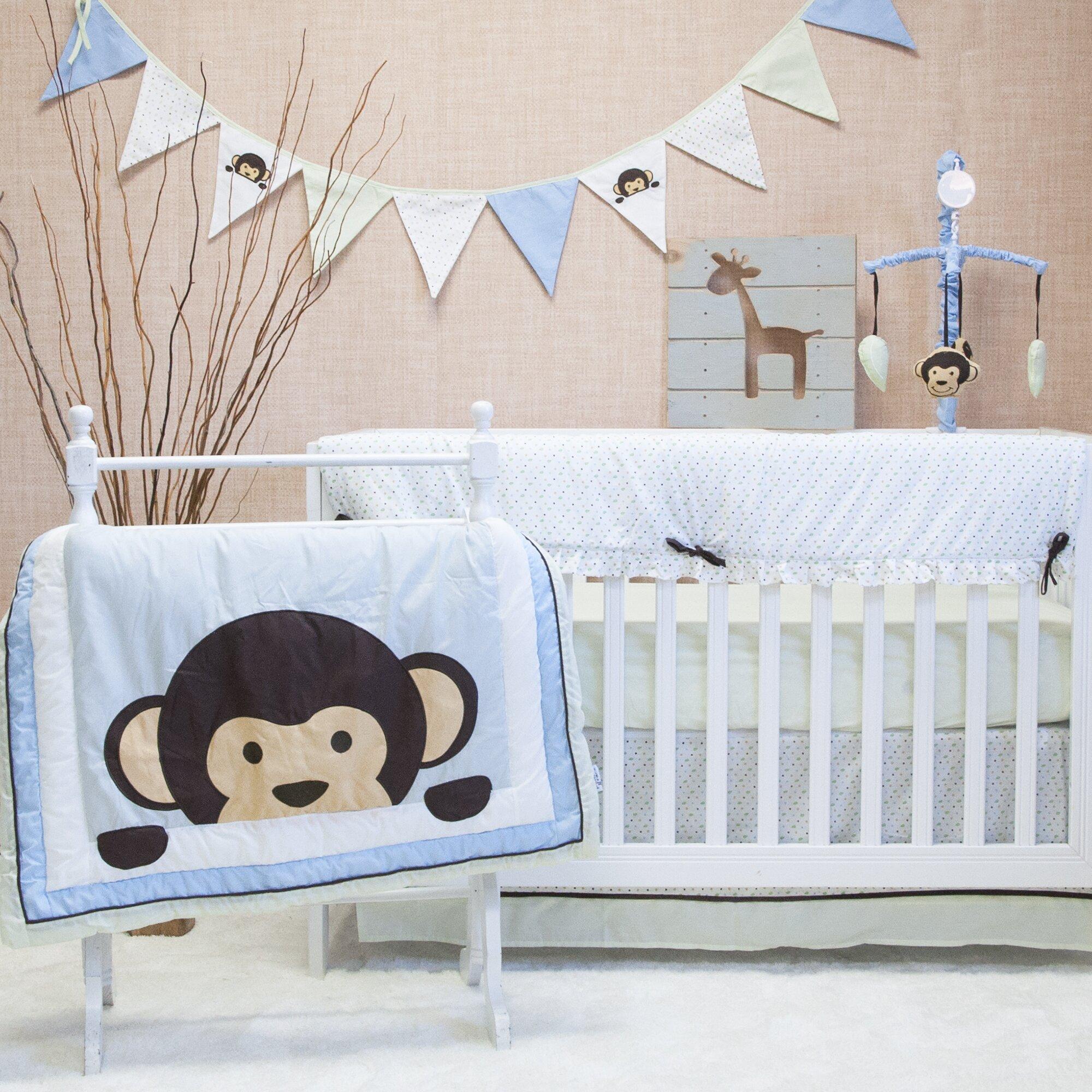 Maddox Monkey Crib Bedding Set