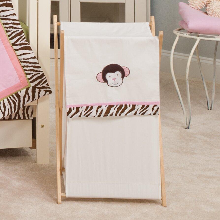 Pam grace creations jolly molly monkey laundry hamper wayfair - Monkey laundry hamper ...