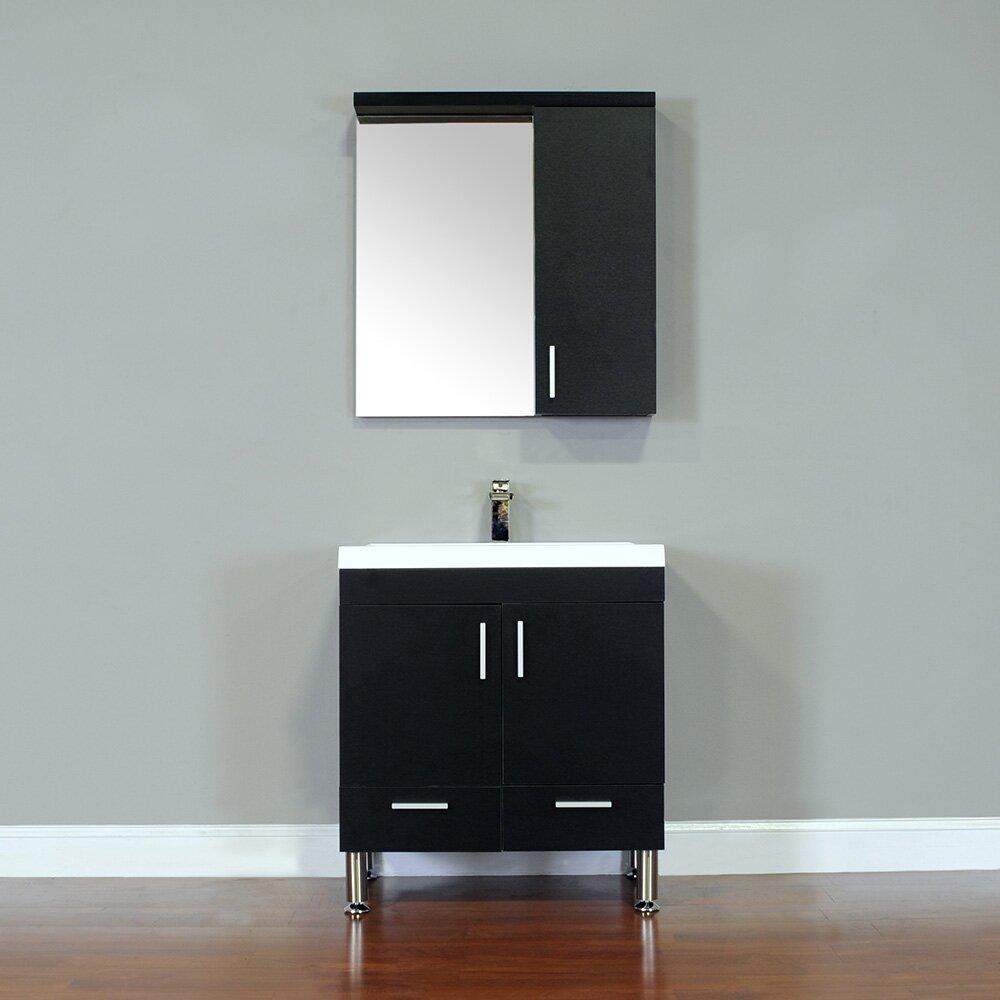 30 Bathroom Cabinet Wade Logan Waldwick 30 Single Modern Bathroom Vanity Set With