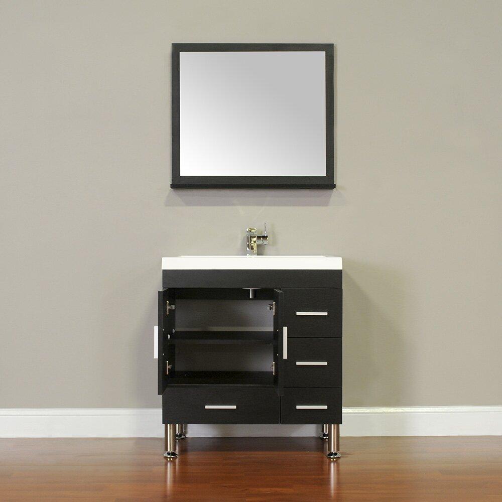 """alya bath ripley """" single modern bathroom vanity set with mirror, Bathroom decor"""
