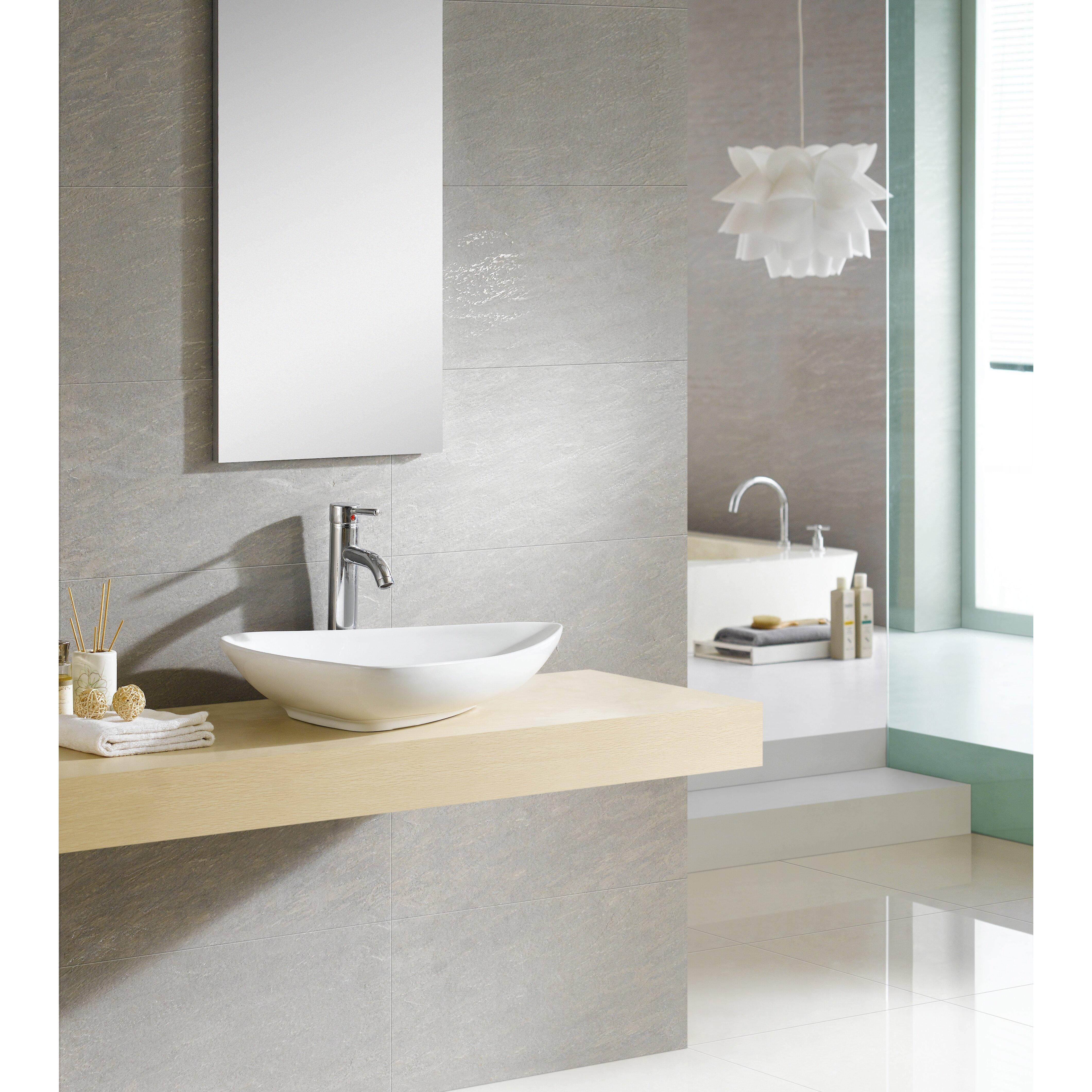 Fine Fixtures Modern Vitreous Triangular Vessel Sink Vessel Bathroom Sink. Fine Fixtures Modern Vitreous Triangular Vessel Sink Vessel