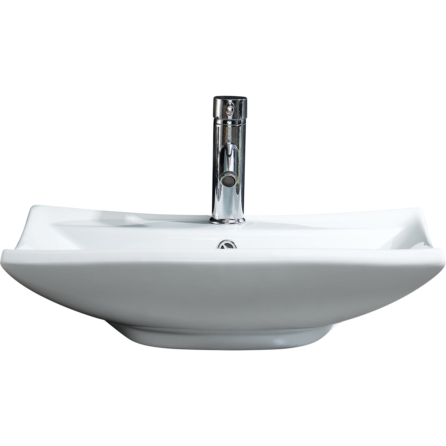 Modern Vessel Sinks : Fine Fixtures Modern Vitreous Square Vessel Sink Vessel Bathroom Sink ...
