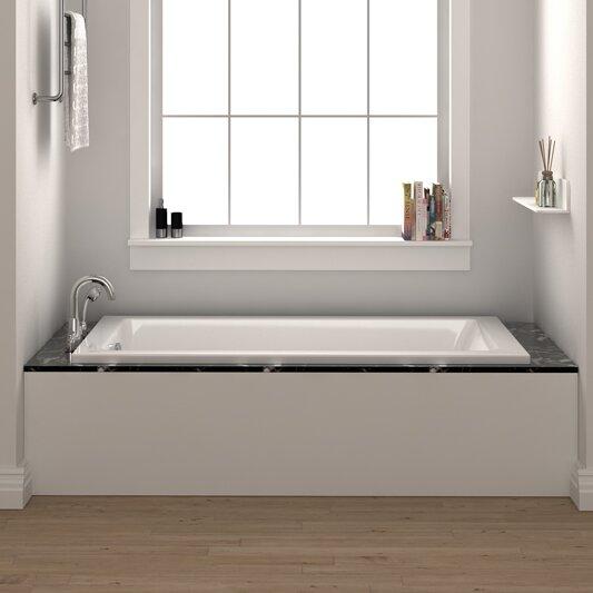 Fine fixtures drop in or alcove bathtub 36 x 72 soaking for Alcove bathtub dimensions