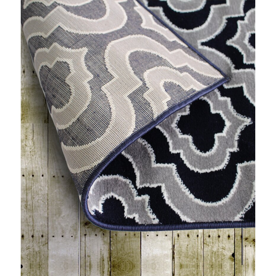 Rug And Decor Inc Summit Elite Navy Blue Grey Area Rug