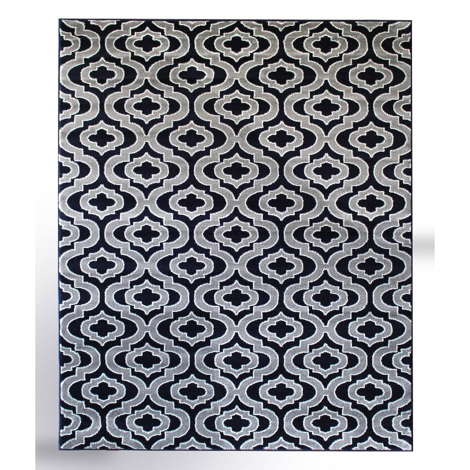 Rug And Decor Inc. Summit Elite Navy Blue/Grey Area Rug