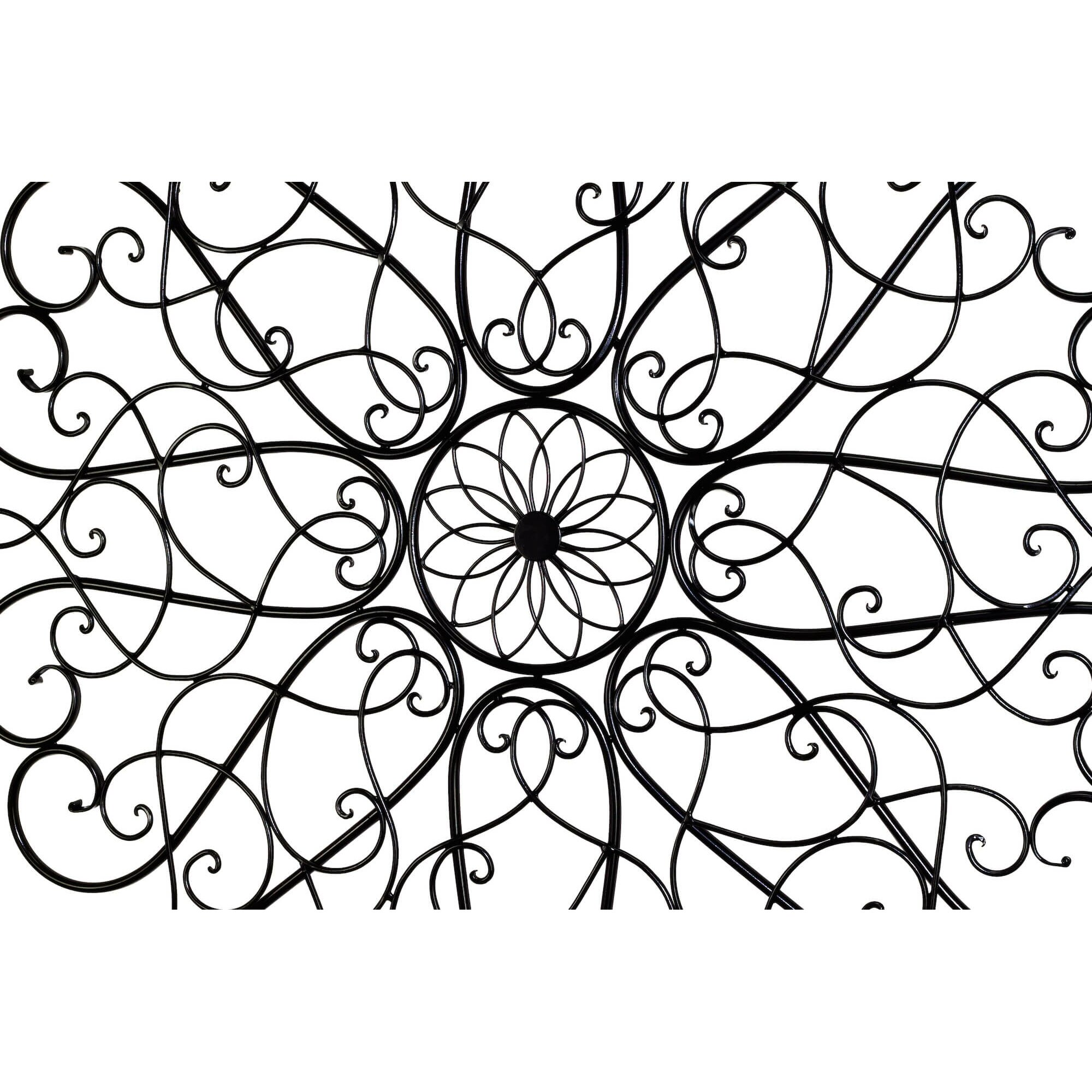 Bay Accents Round Iron Scroll Wall Decor