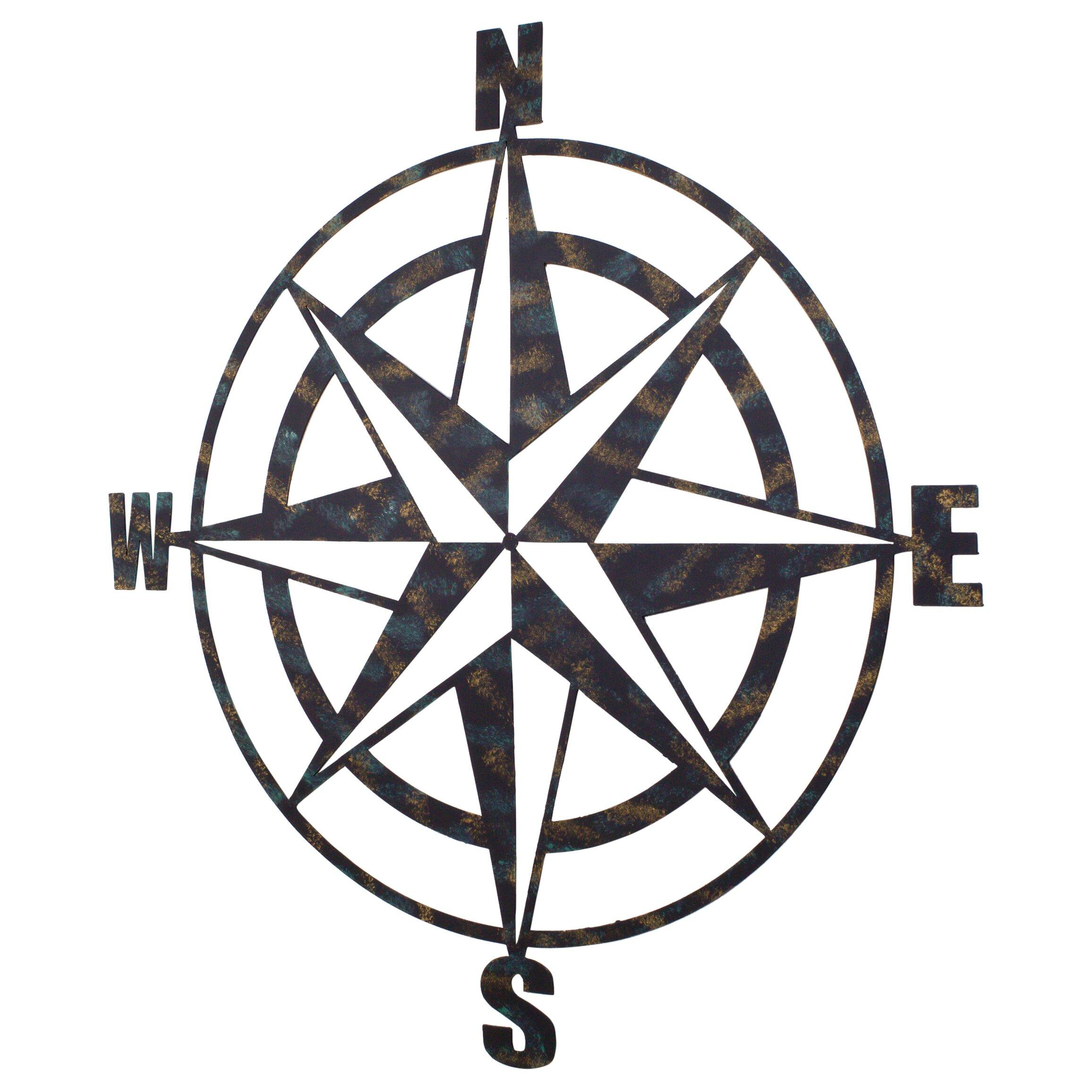 Bay Accents Metal Compass Wall Du0026eacute;cor