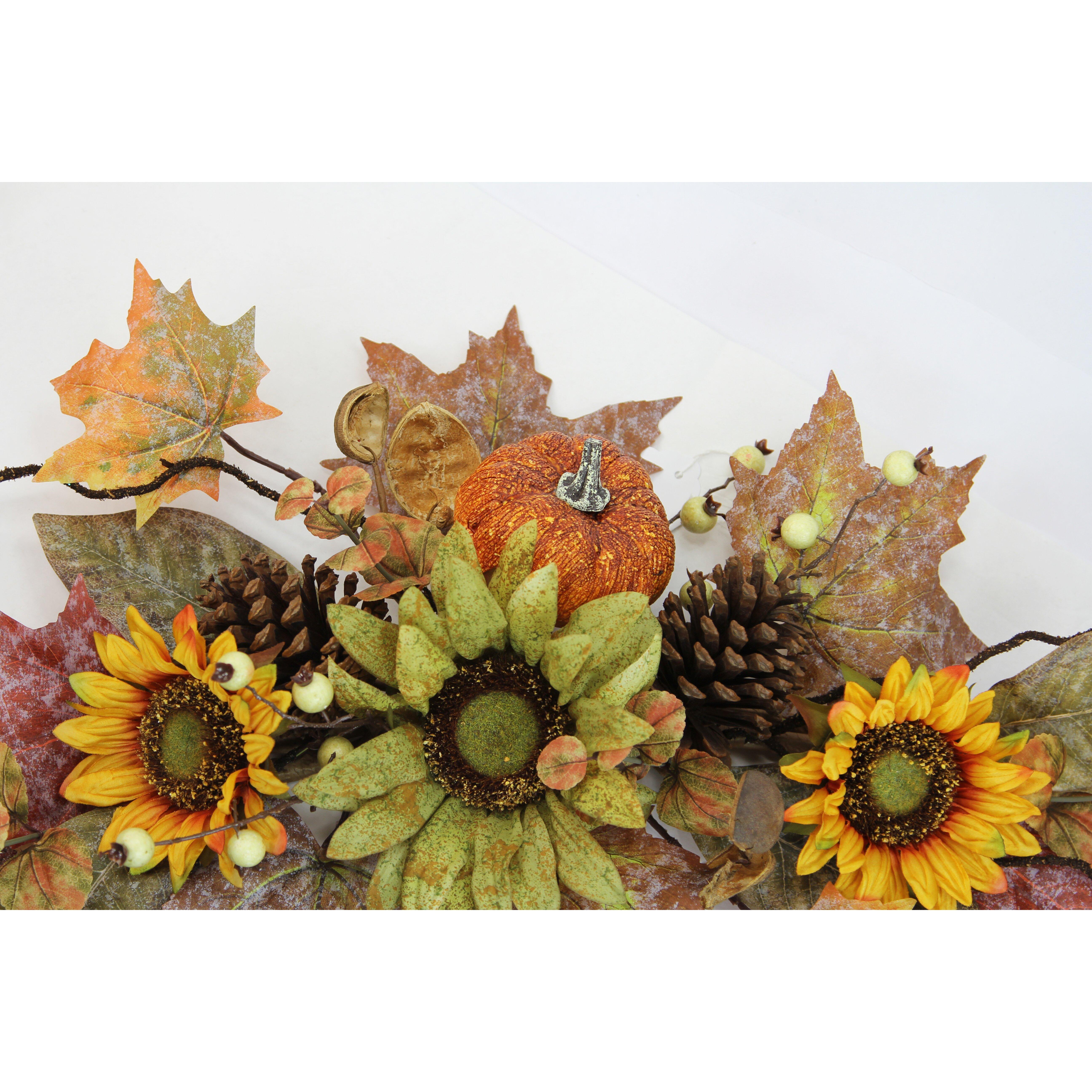 Springtime Wreaths Admiredbynature Artificial Sunflowers Pumpkins Pinecone
